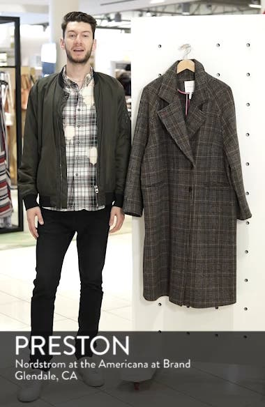 Double Face Plaid Wool Blend Coat, sales video thumbnail