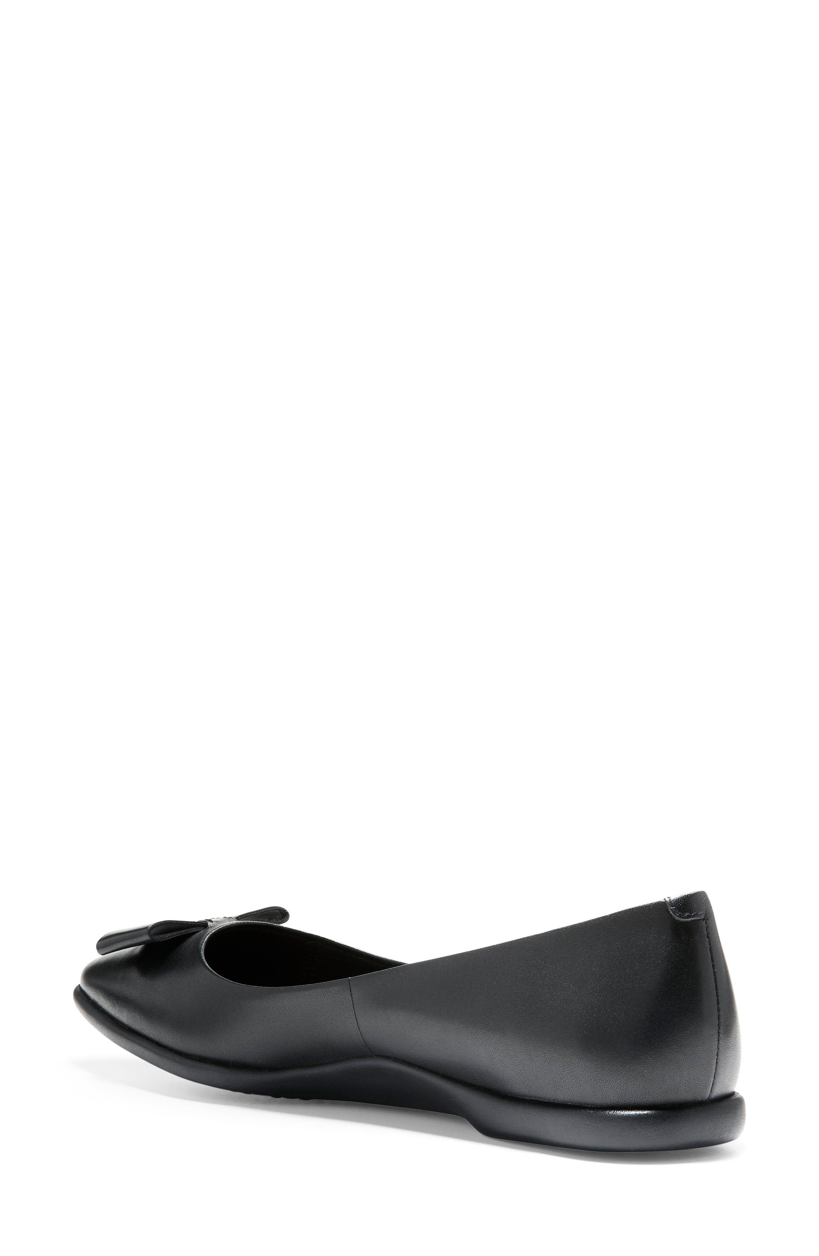 COLE HAAN,                             3.ZeroGrand Skimmer Flat,                             Alternate thumbnail 2, color,                             BLACK LEATHER