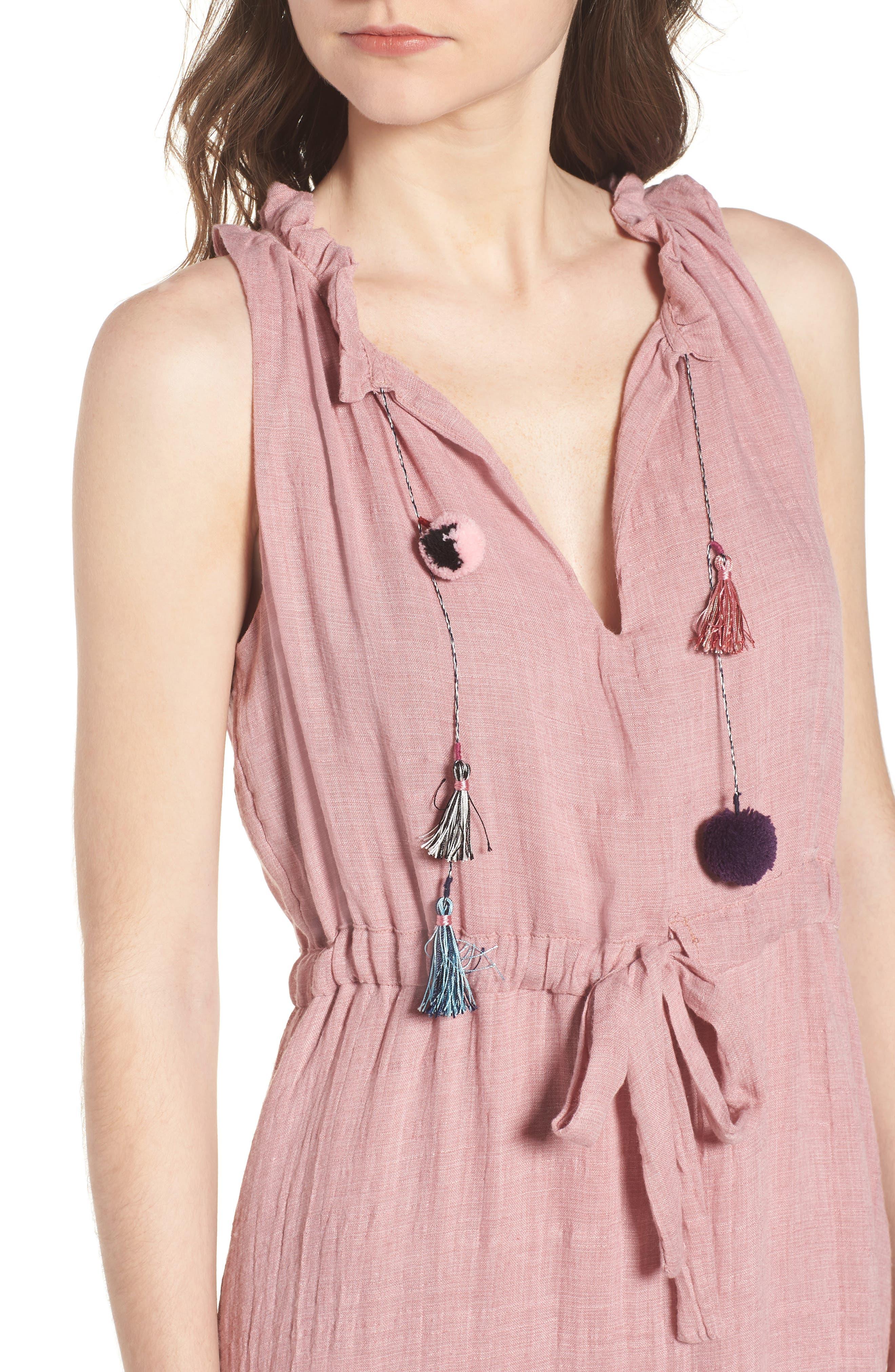Nicolleta Tie Waist Midi Dress,                             Alternate thumbnail 4, color,                             650