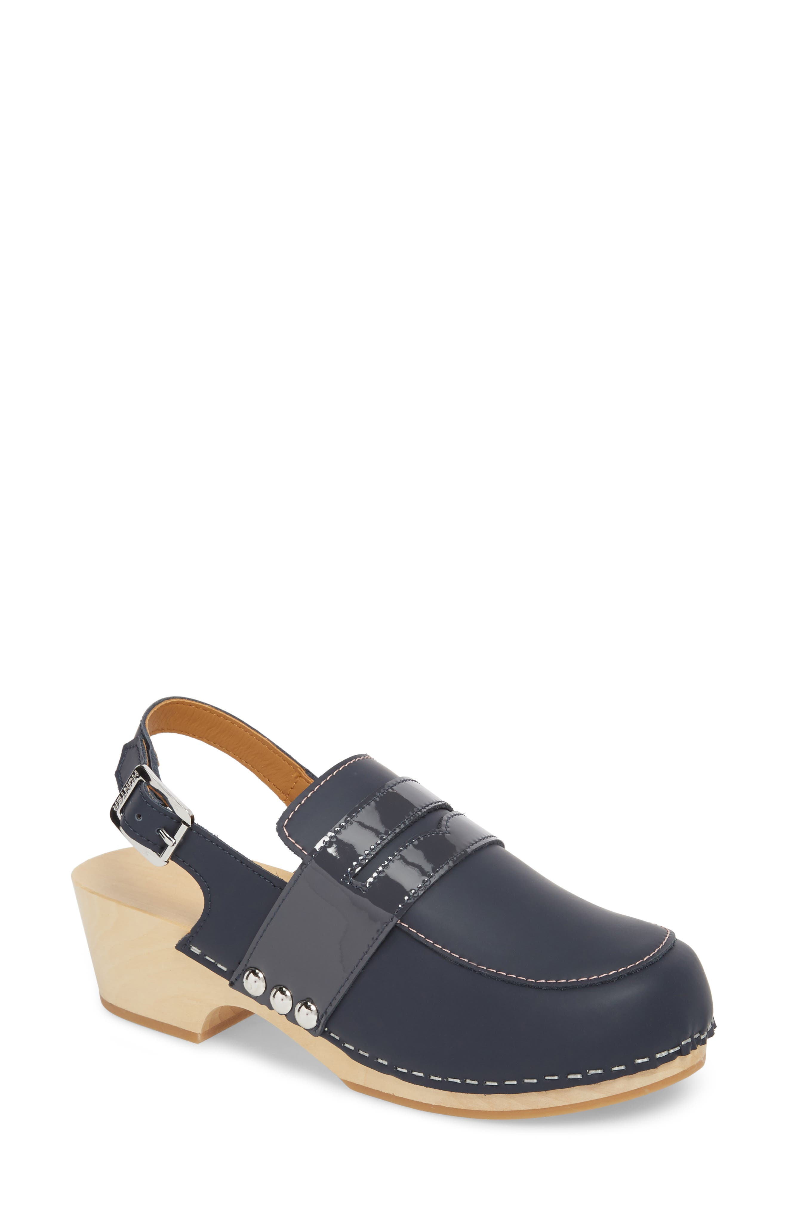 Refined Penny Loafer Clog,                             Main thumbnail 1, color,                             410
