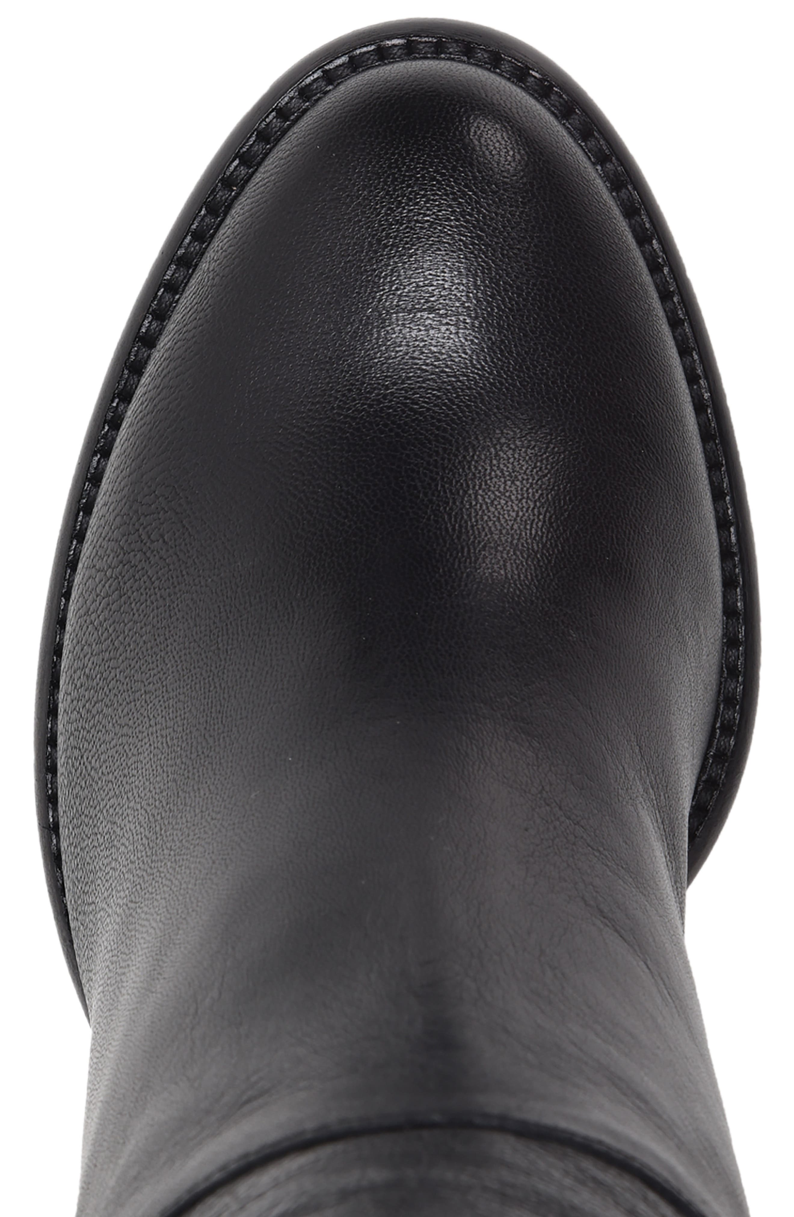 Michela SP Waterproof Genuine Shearling Lined Boot,                             Alternate thumbnail 4, color,                             BLACK METALLIC LEATHER