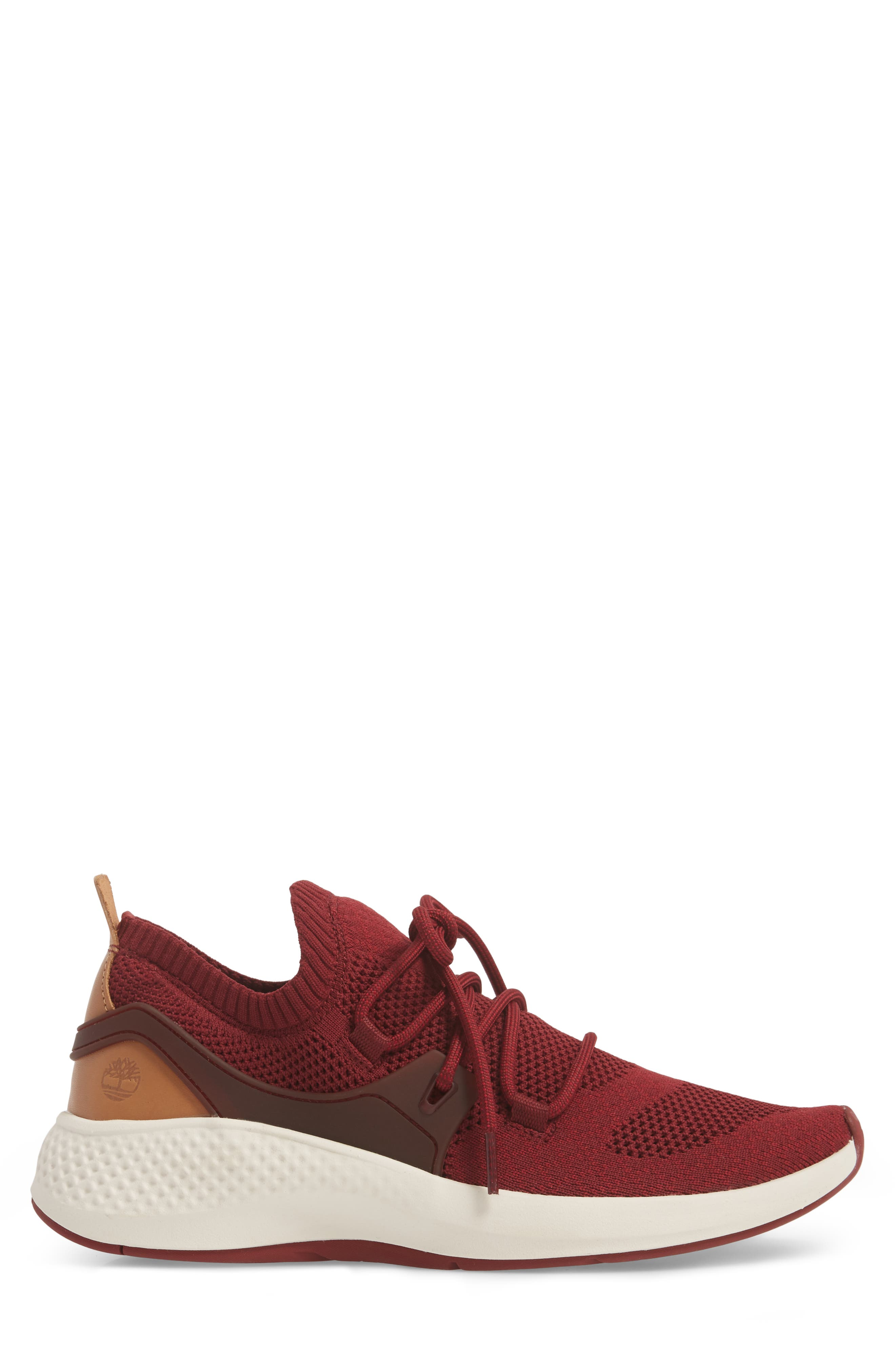FlyRoam Sneaker,                             Alternate thumbnail 3, color,                             POMEGRANATE LEATHER