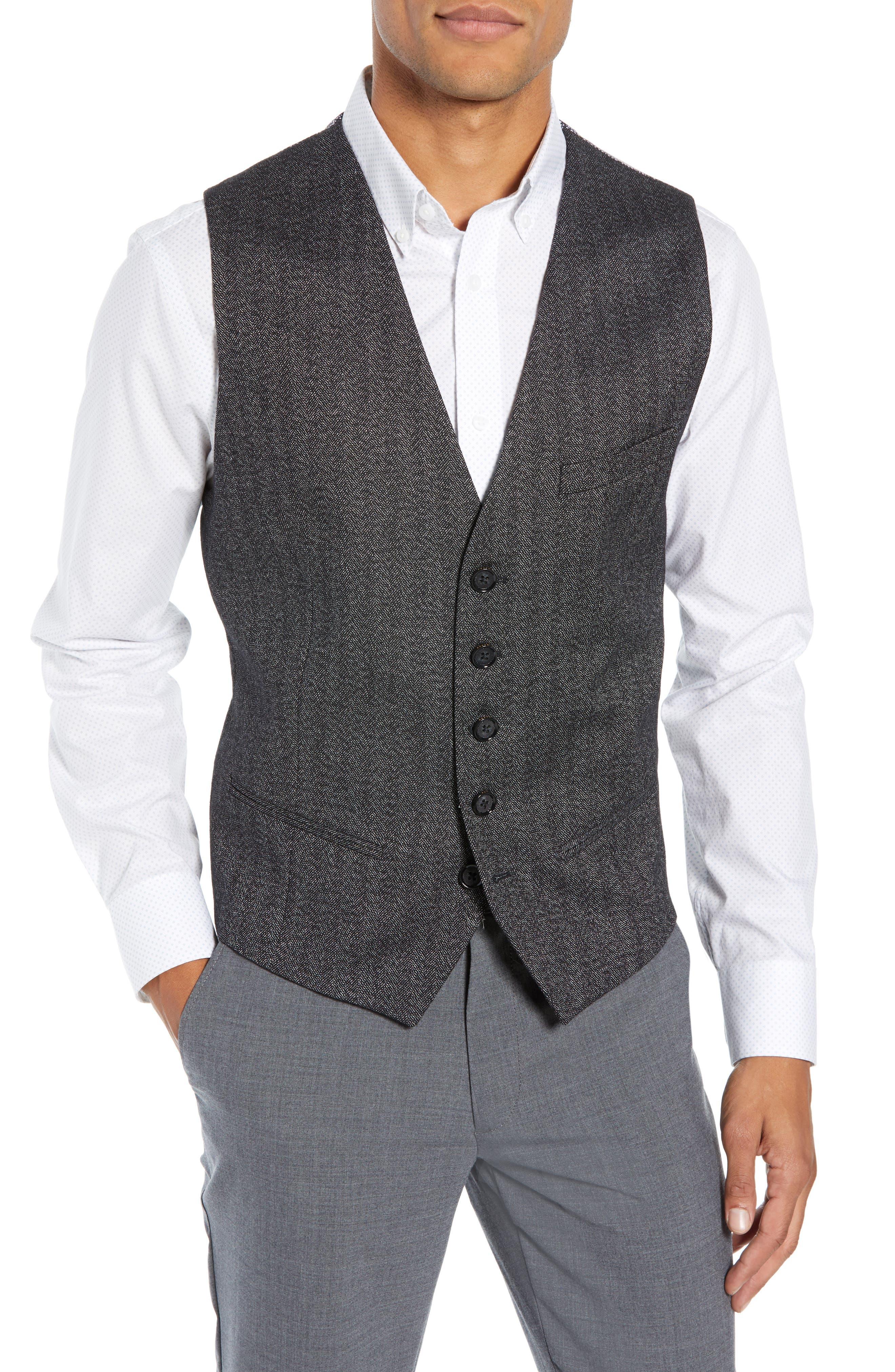 Wenswai Slim Vest,                         Main,                         color, CHARCOAL