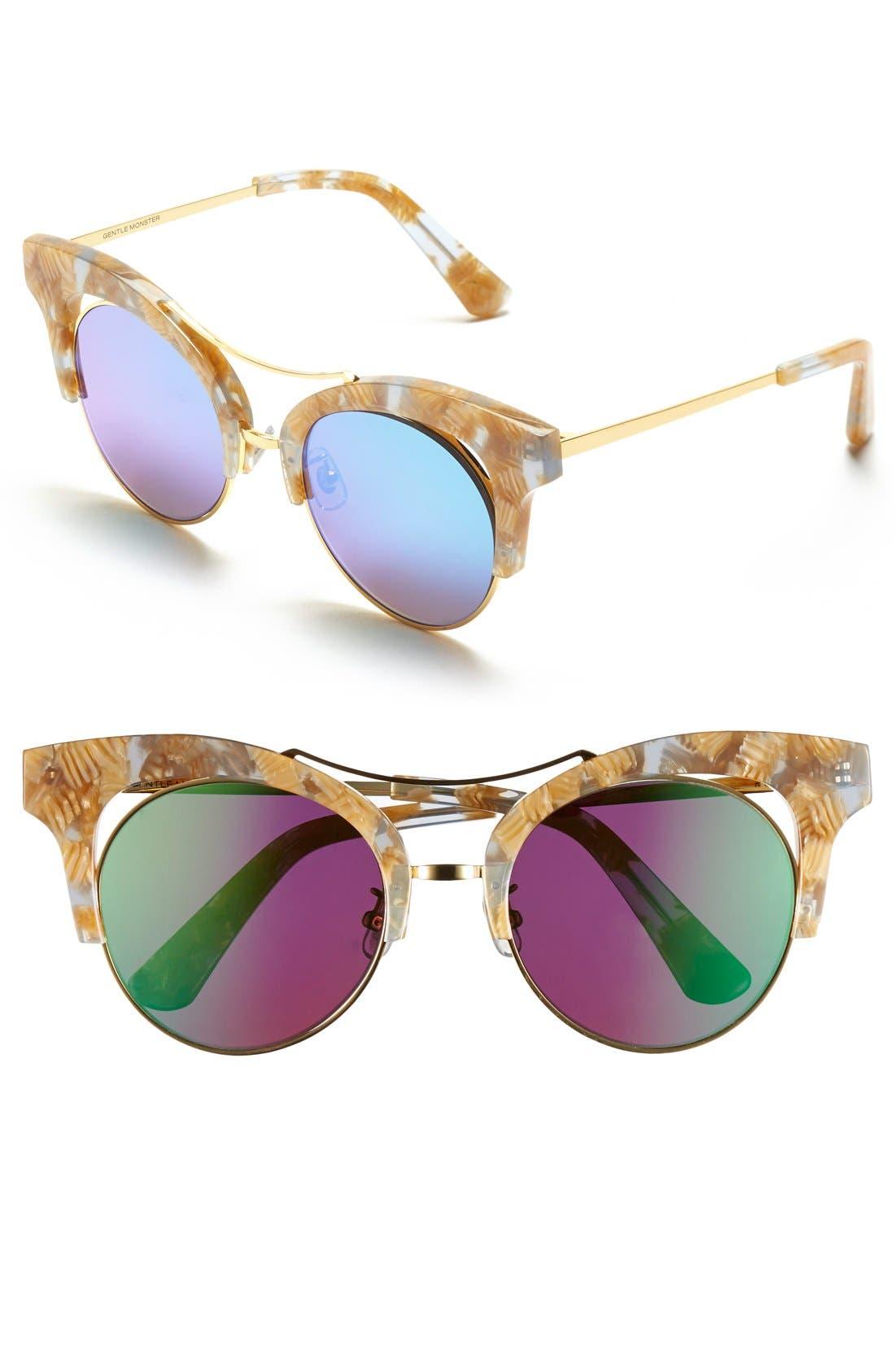 52mm Retro Sunglasses,                             Main thumbnail 1, color,                             200