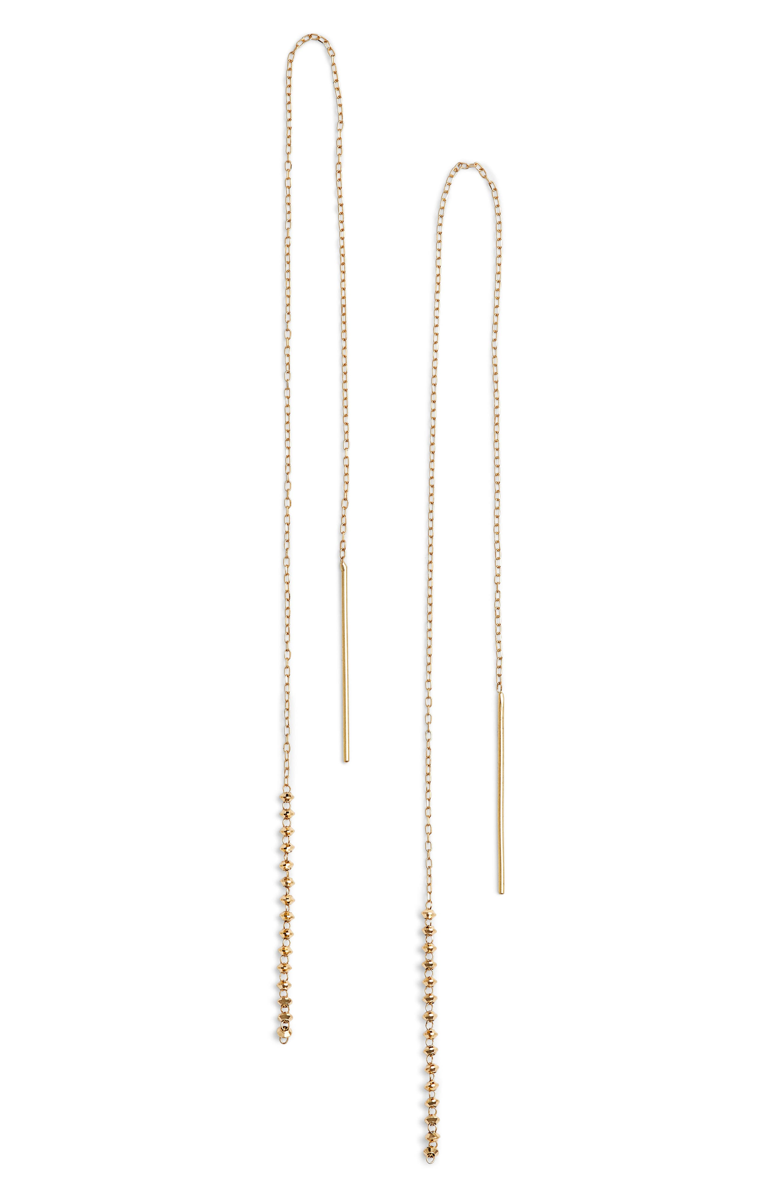 Long Shimmer Threader Earrings,                         Main,                         color, 710
