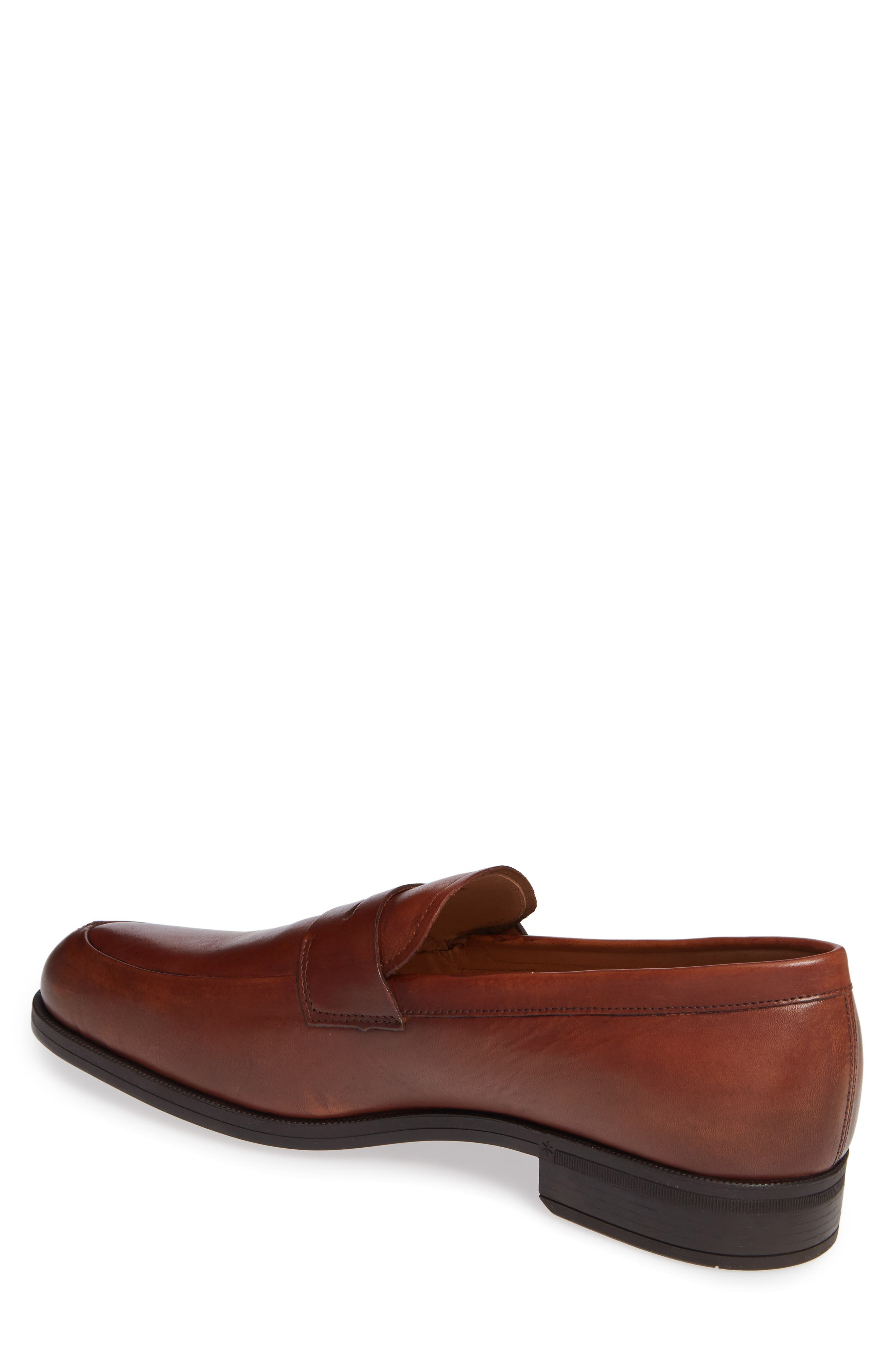 Iggi Penny Loafer,                             Alternate thumbnail 2, color,                             COGNAC LEATHER