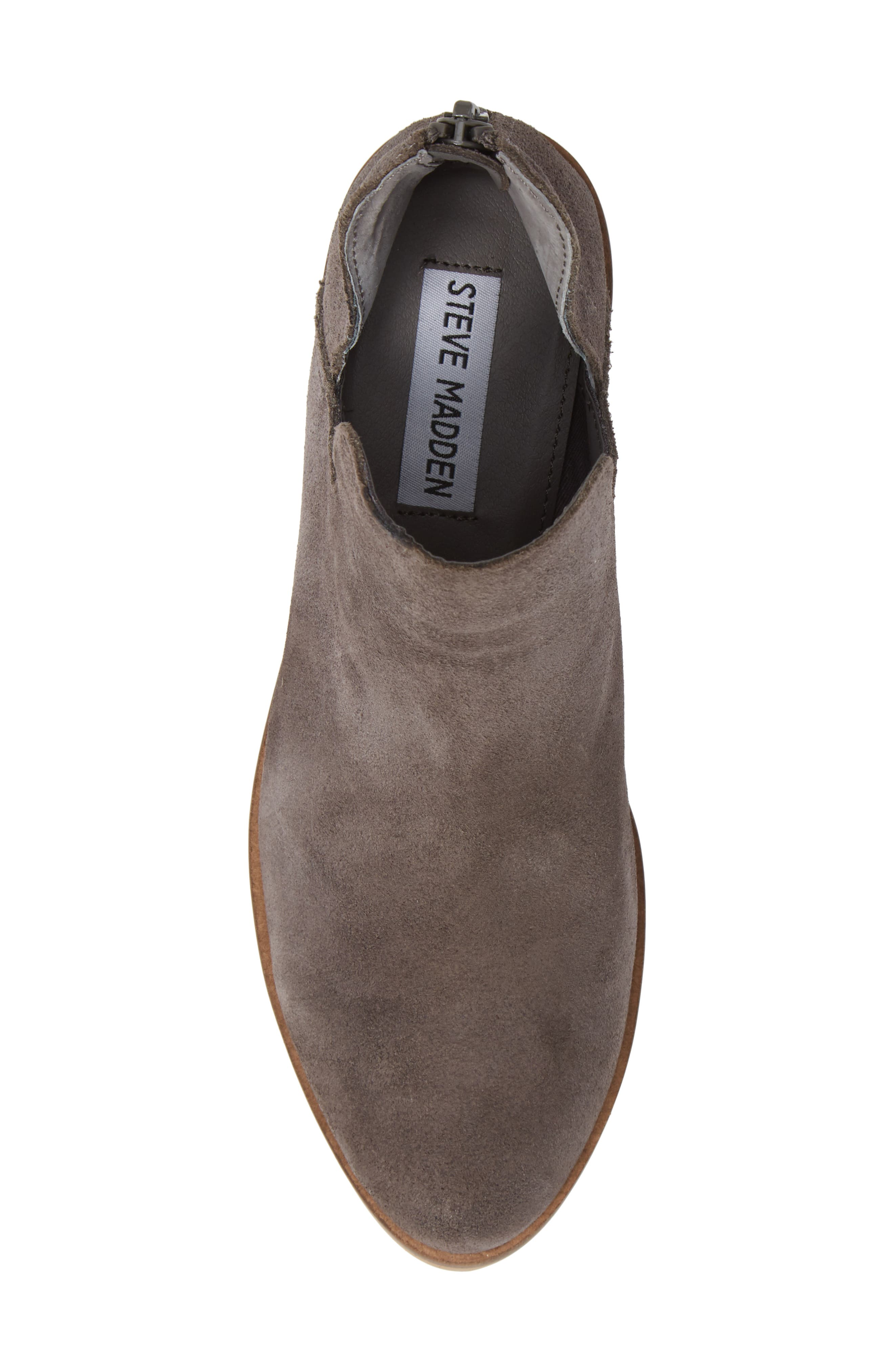 Lancaster Bootie,                             Alternate thumbnail 5, color,                             GREY SUEDE