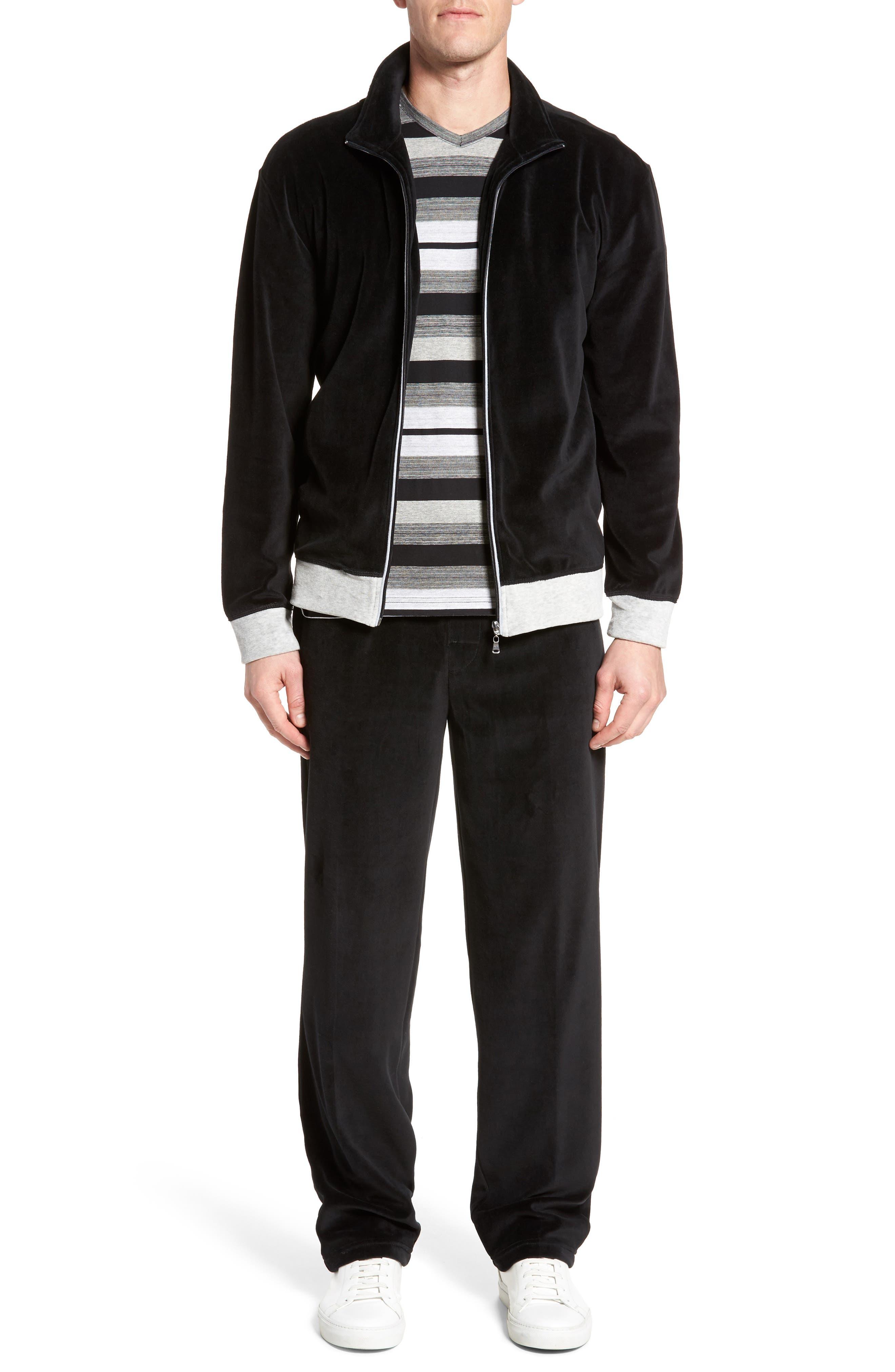 Strathcona Velour Warm-Up Suit,                             Main thumbnail 1, color,                             001
