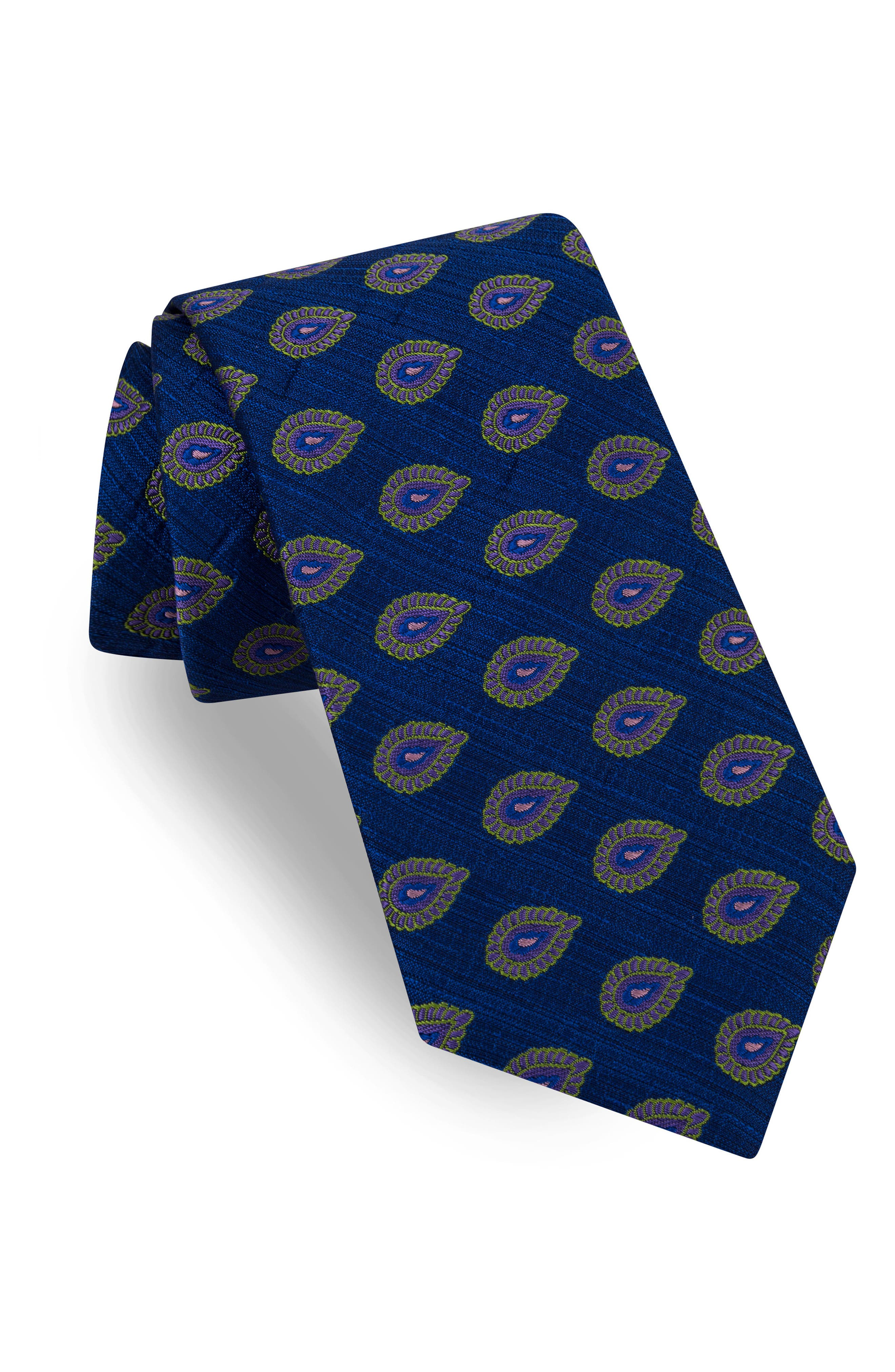 Superb Paisley Silk Tie,                             Main thumbnail 1, color,                             411