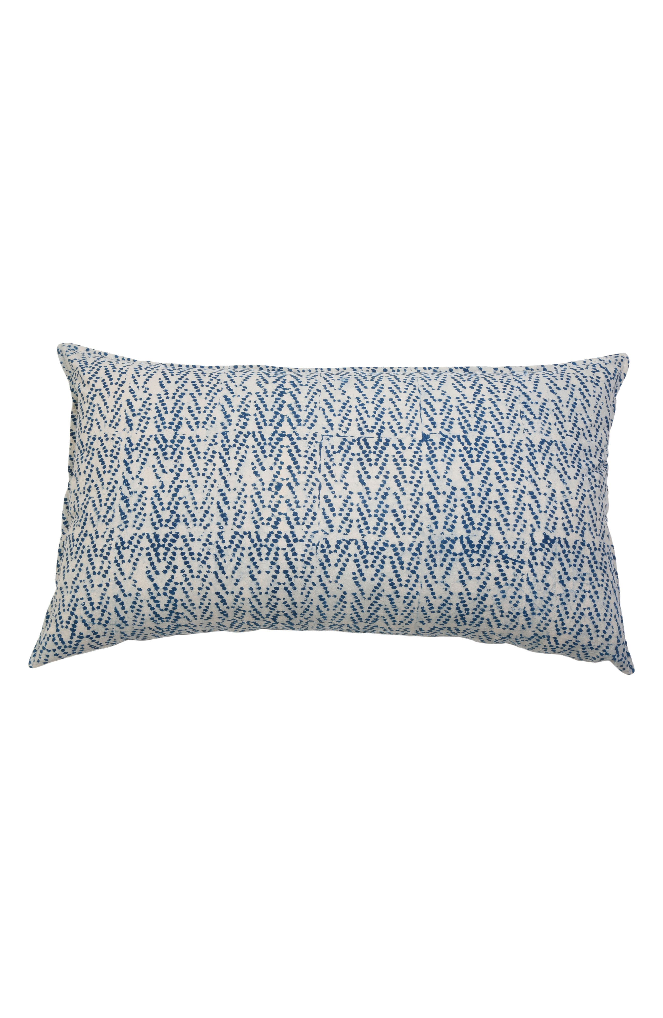 Indigo Dots Accent Pillow,                         Main,                         color,