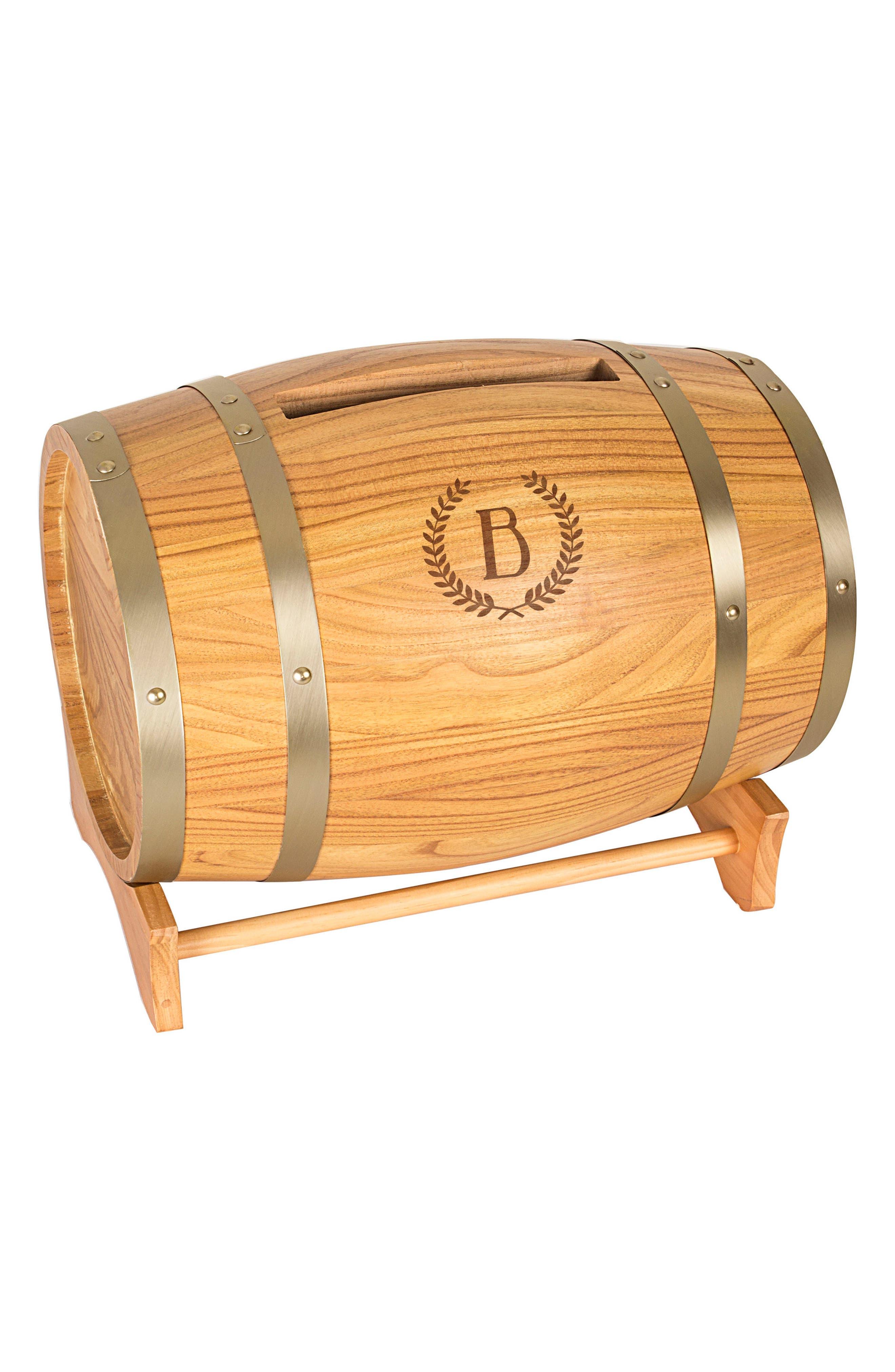 Wine Barrel Reception Card Holder,                             Main thumbnail 3, color,