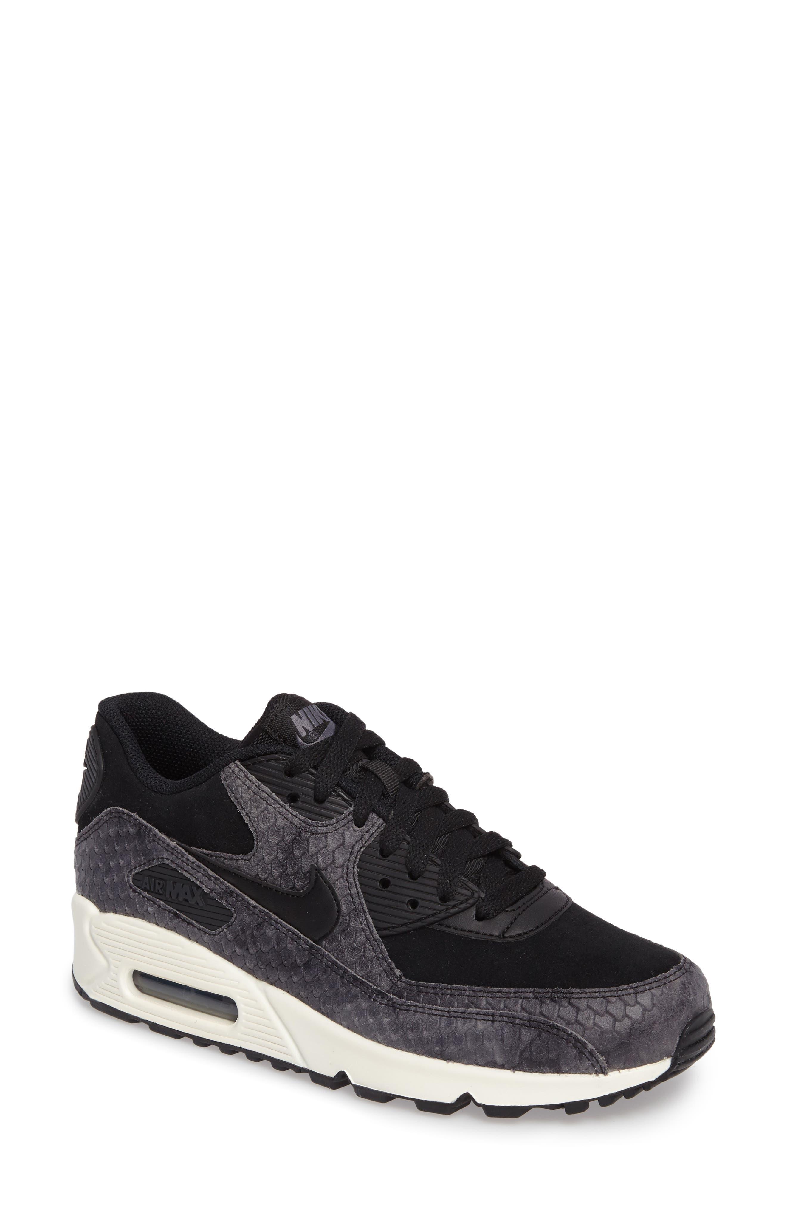 Air Max 90 Embossed Premium Sneaker,                         Main,                         color, 005