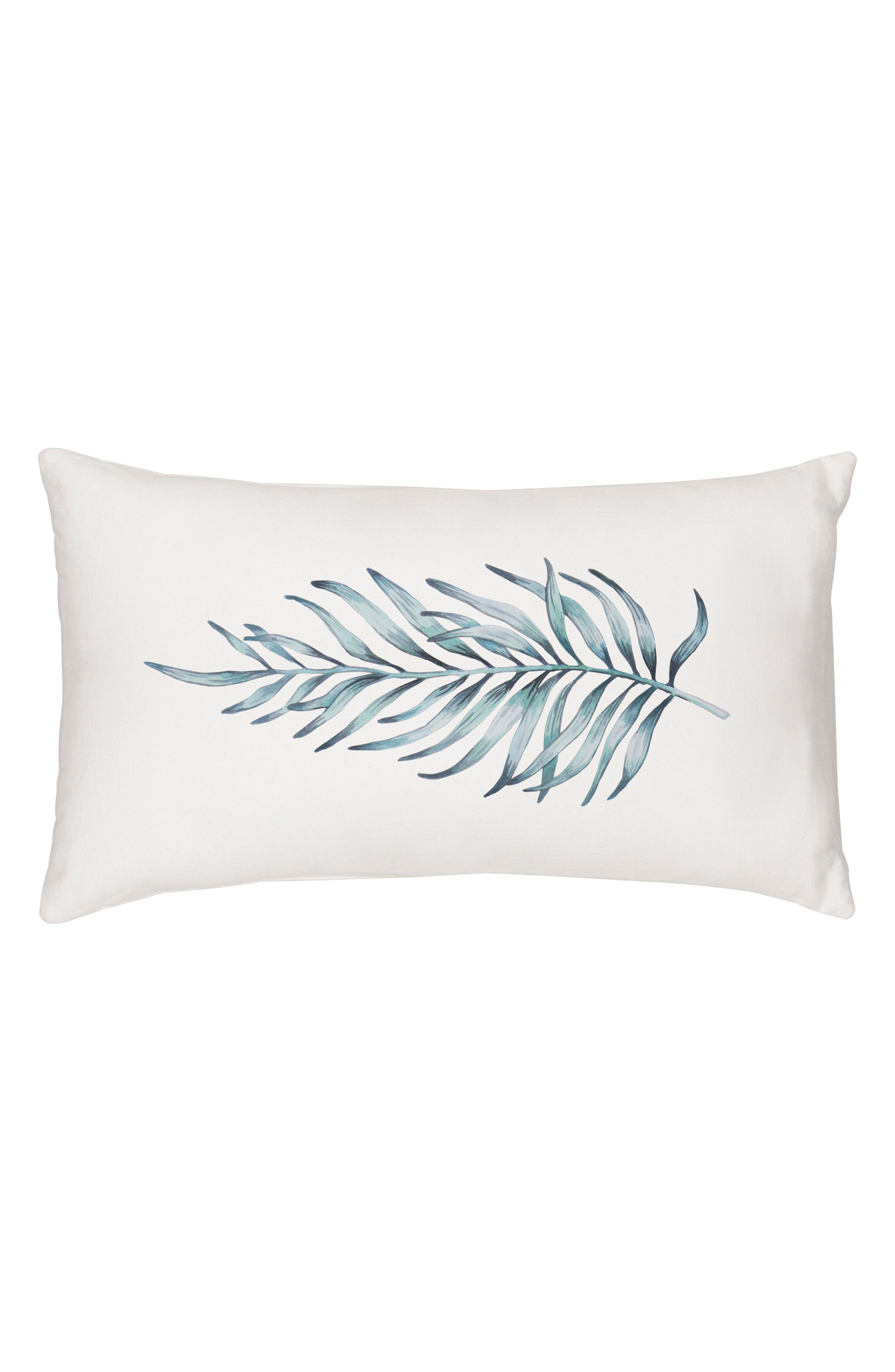 Palm Leaf Lumbar Accent Pillow,                             Main thumbnail 1, color,                             300