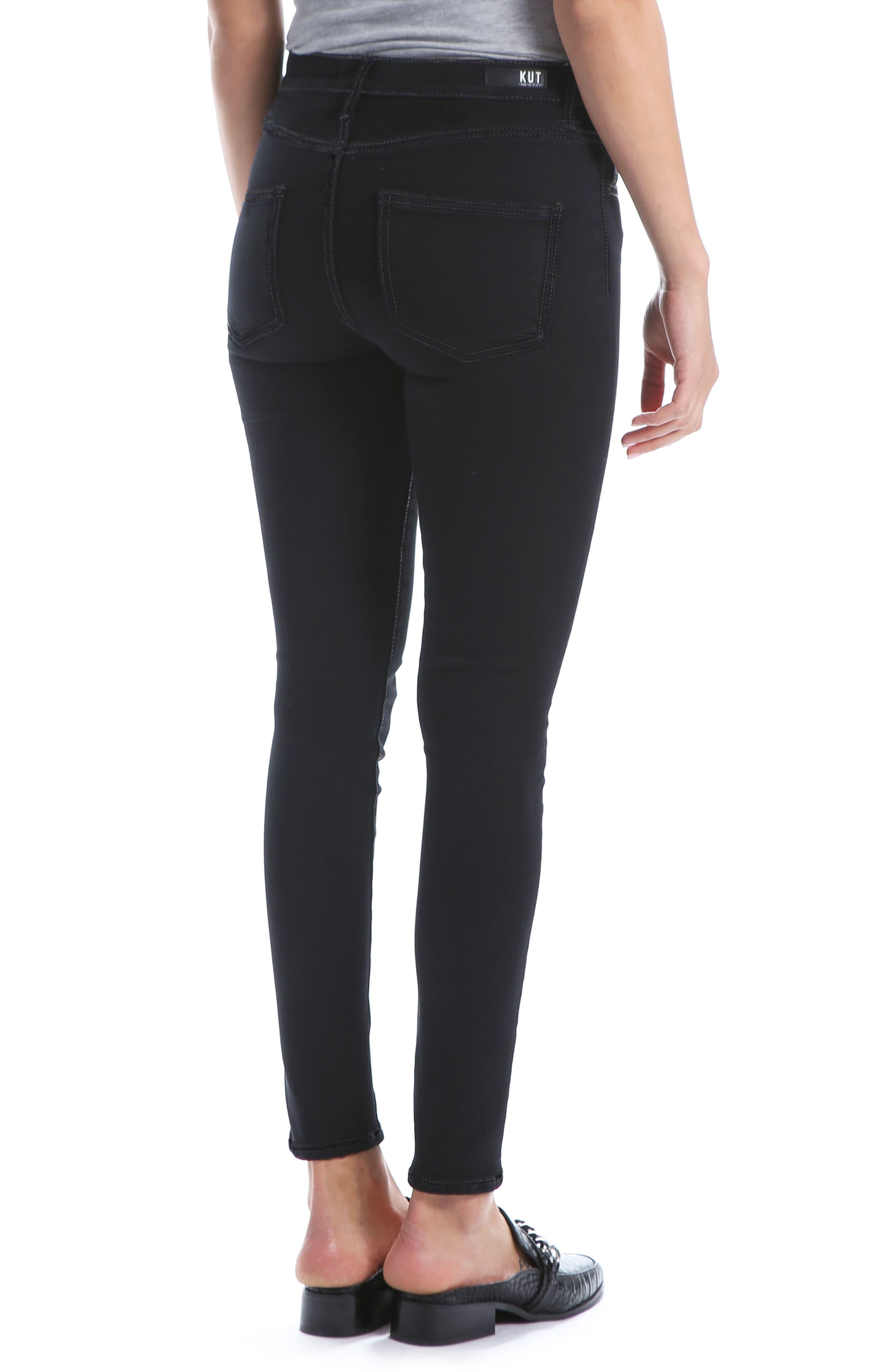 Mia High Waist Super Skinny Jeans,                             Alternate thumbnail 2, color,                             BLACK