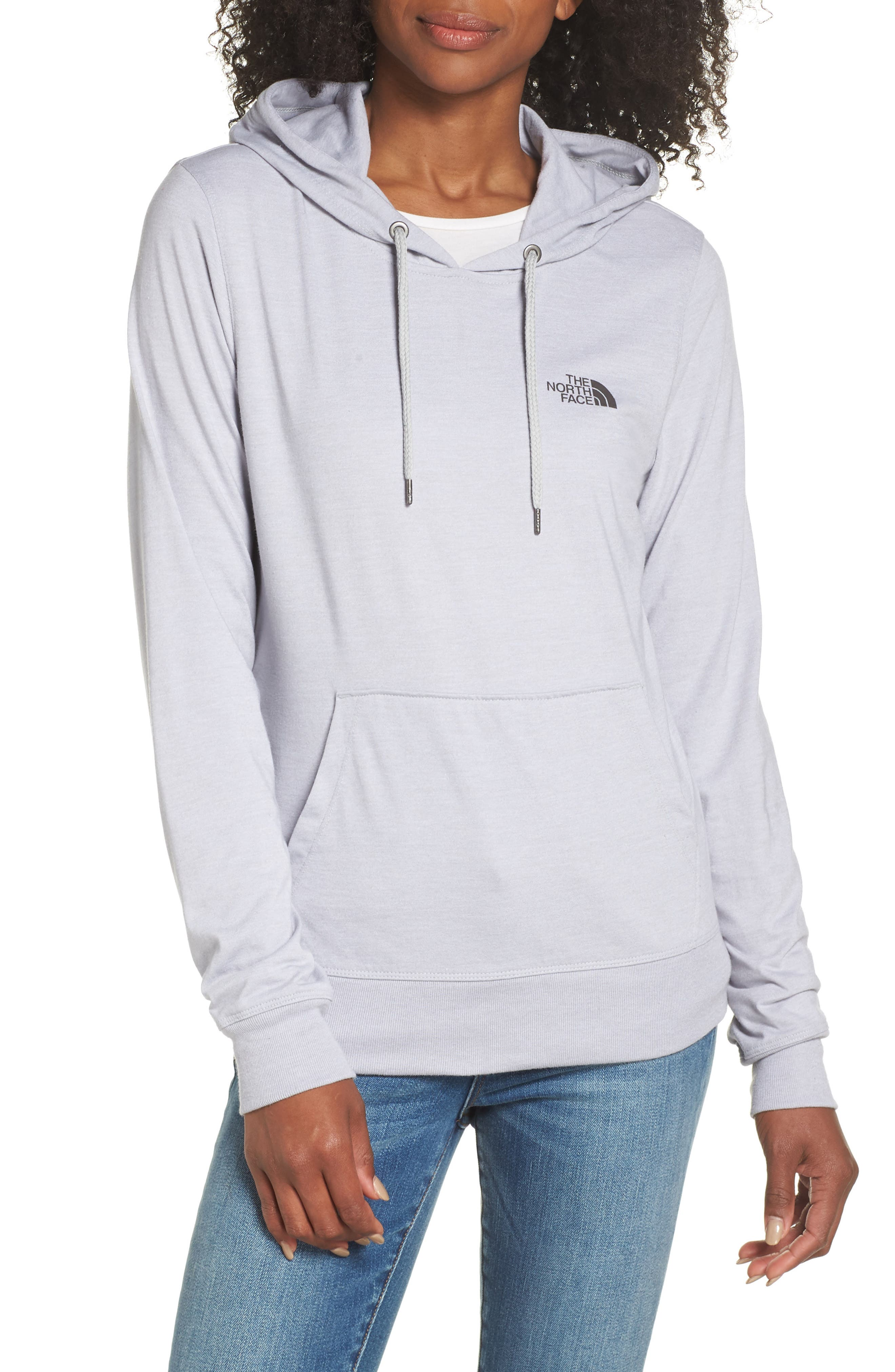 Lightweight Hoodie Sweatshirt,                             Main thumbnail 1, color,                             TNF LIGHT GREY HEATHER