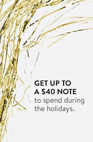 Get a $40 Note On Us. Nordstrom Rewards.