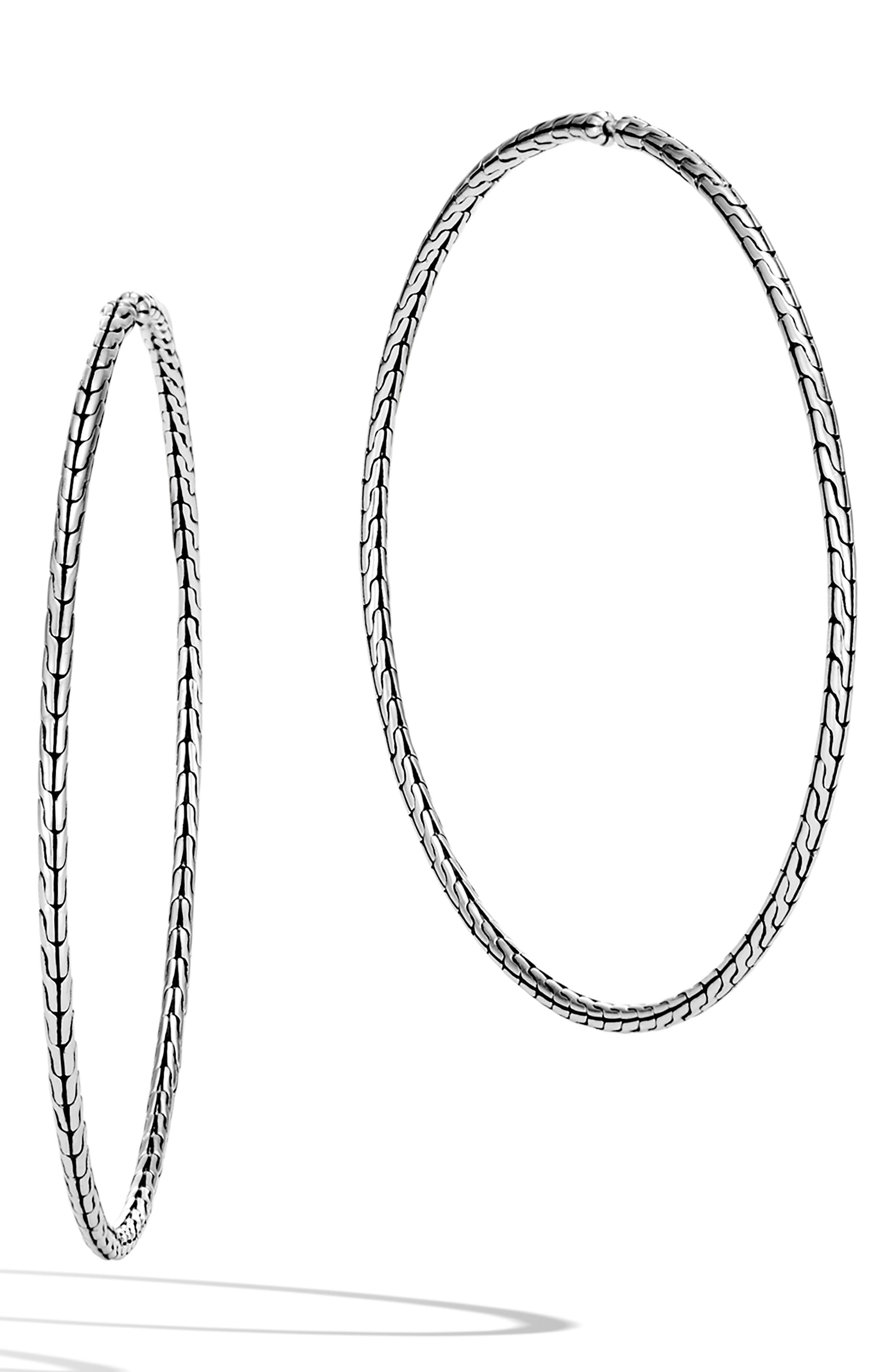 Classic Chain Extra Large Hoop Earrings, Main, color, SILVER