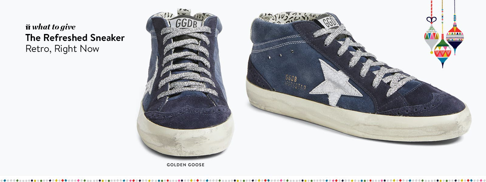 Designer holiday gifts: Golden Goose sneaker.