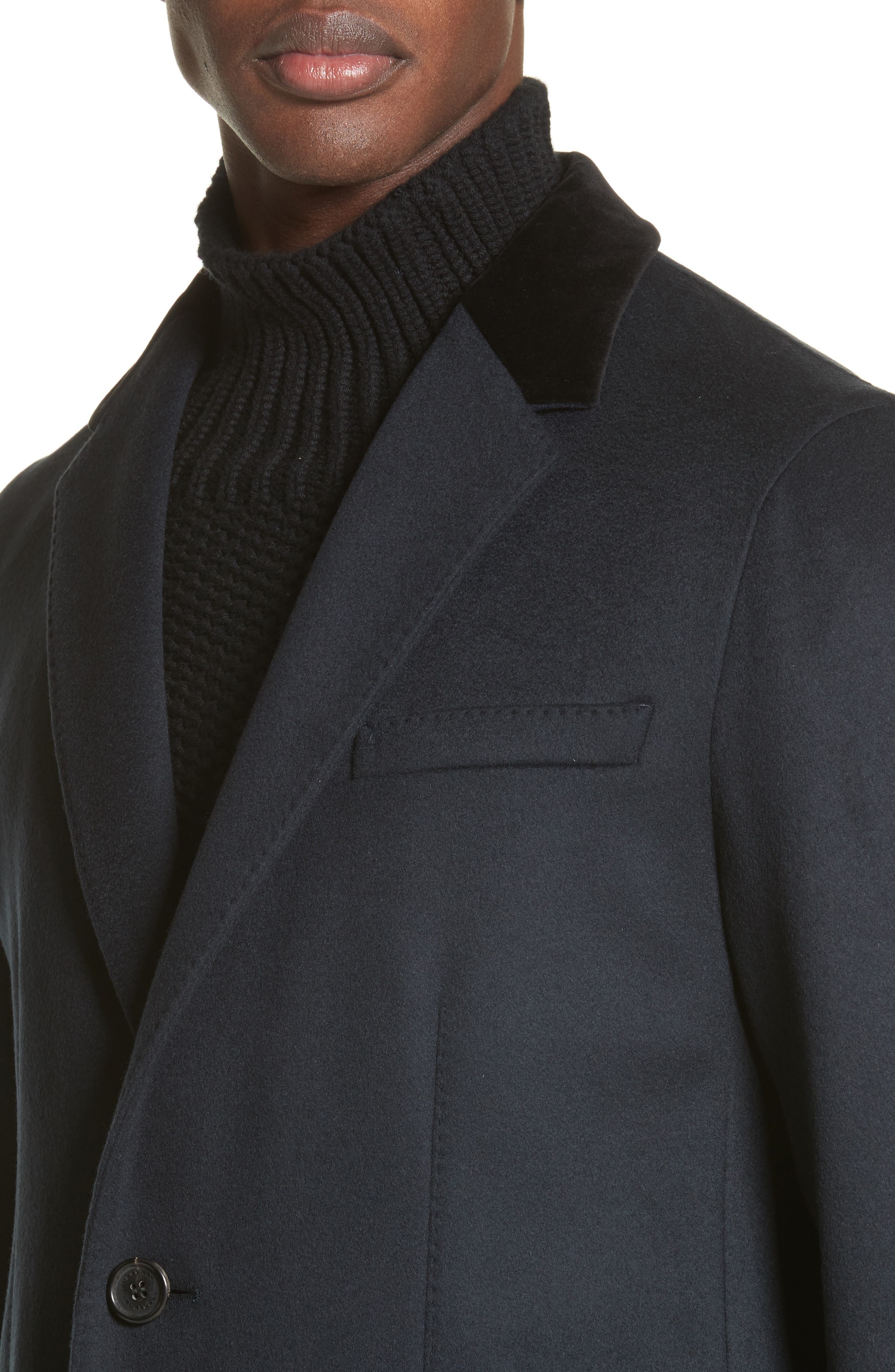 Flynn Wool & Cashmere Topcoat,                             Alternate thumbnail 4, color,                             410
