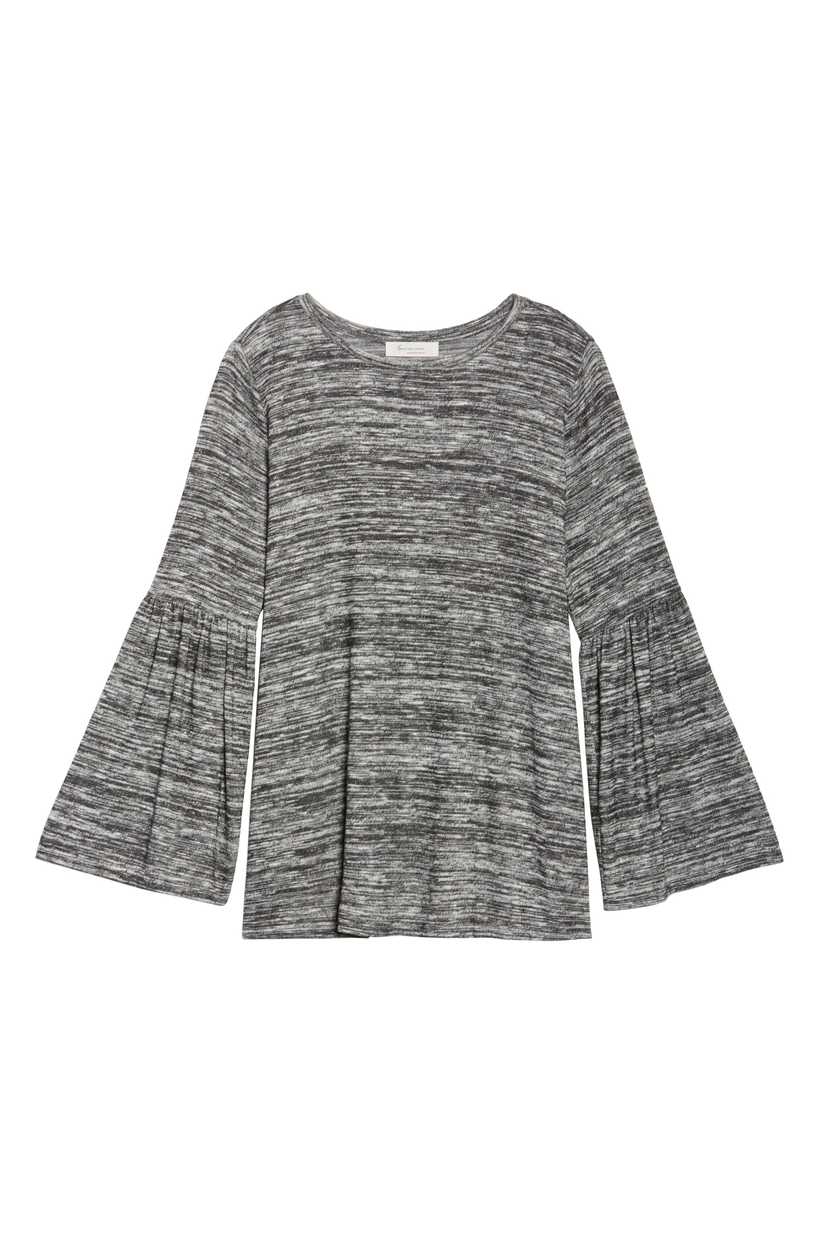 Ruched Bell Sleeve Sweater,                             Alternate thumbnail 6, color,                             091