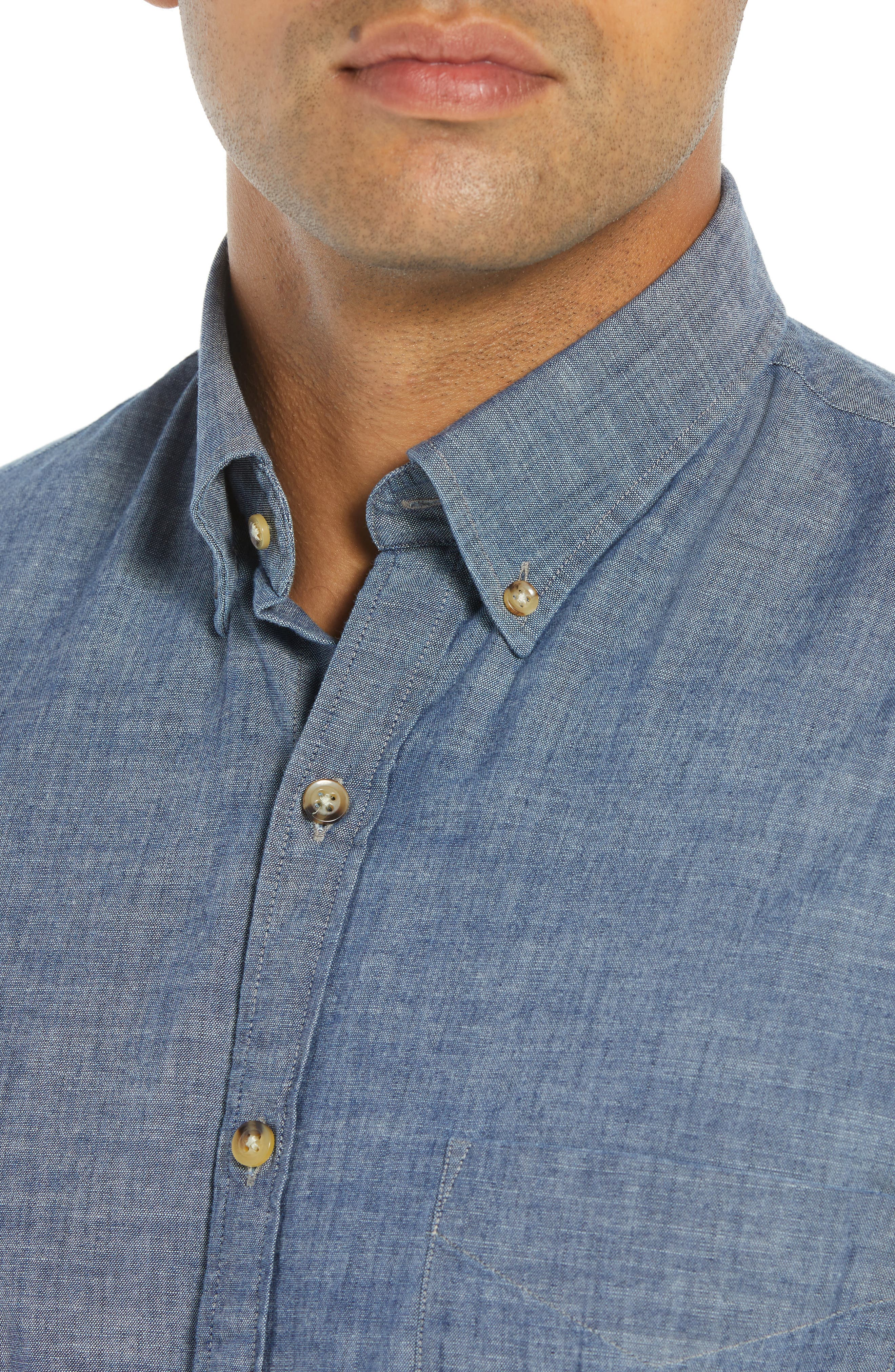 Blue Ridge Regular Fit Indigo Sport Shirt,                             Alternate thumbnail 2, color,                             INDIGO