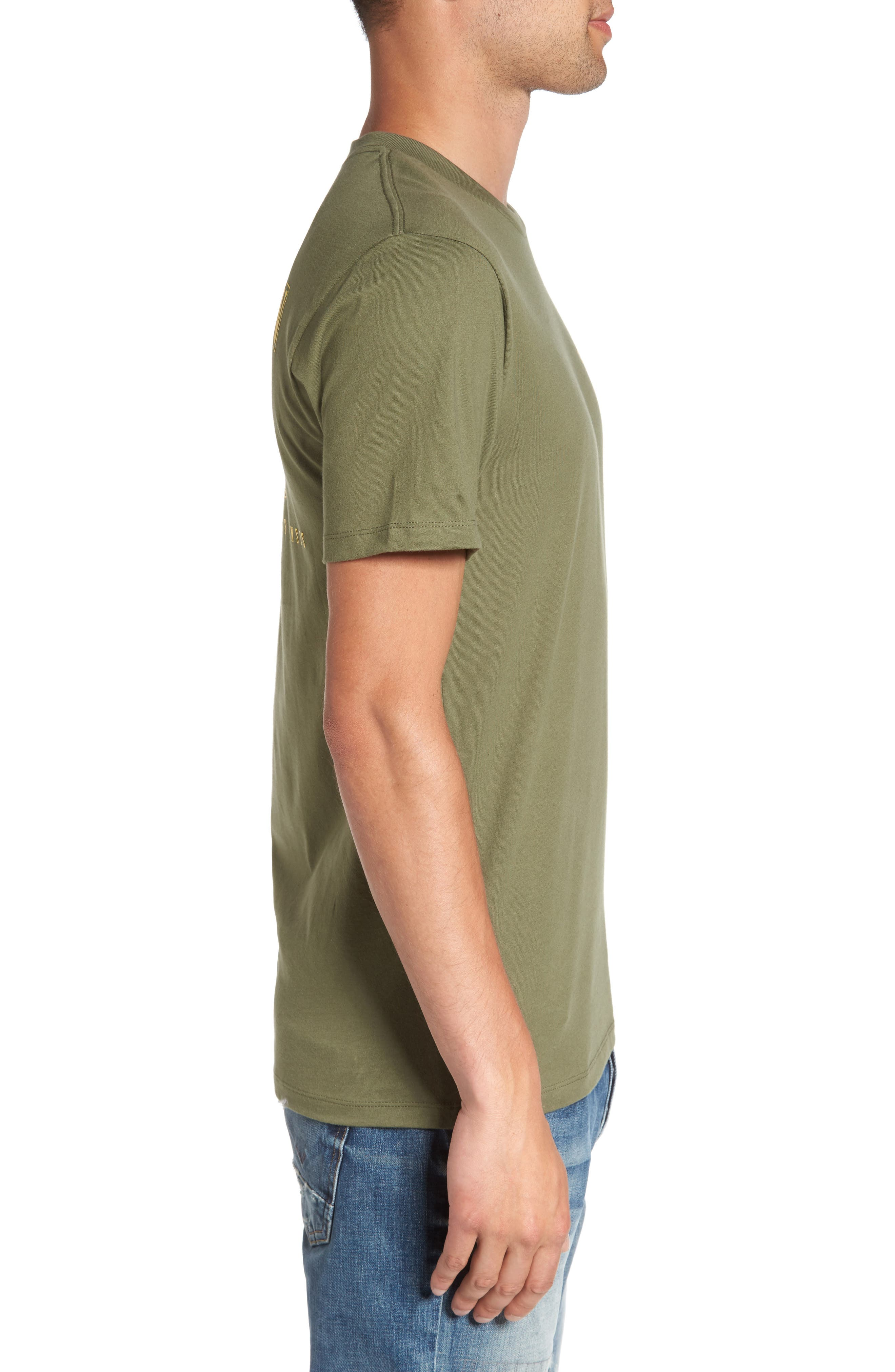 Gold Buddha Graphic T-Shirt,                             Alternate thumbnail 3, color,                             300
