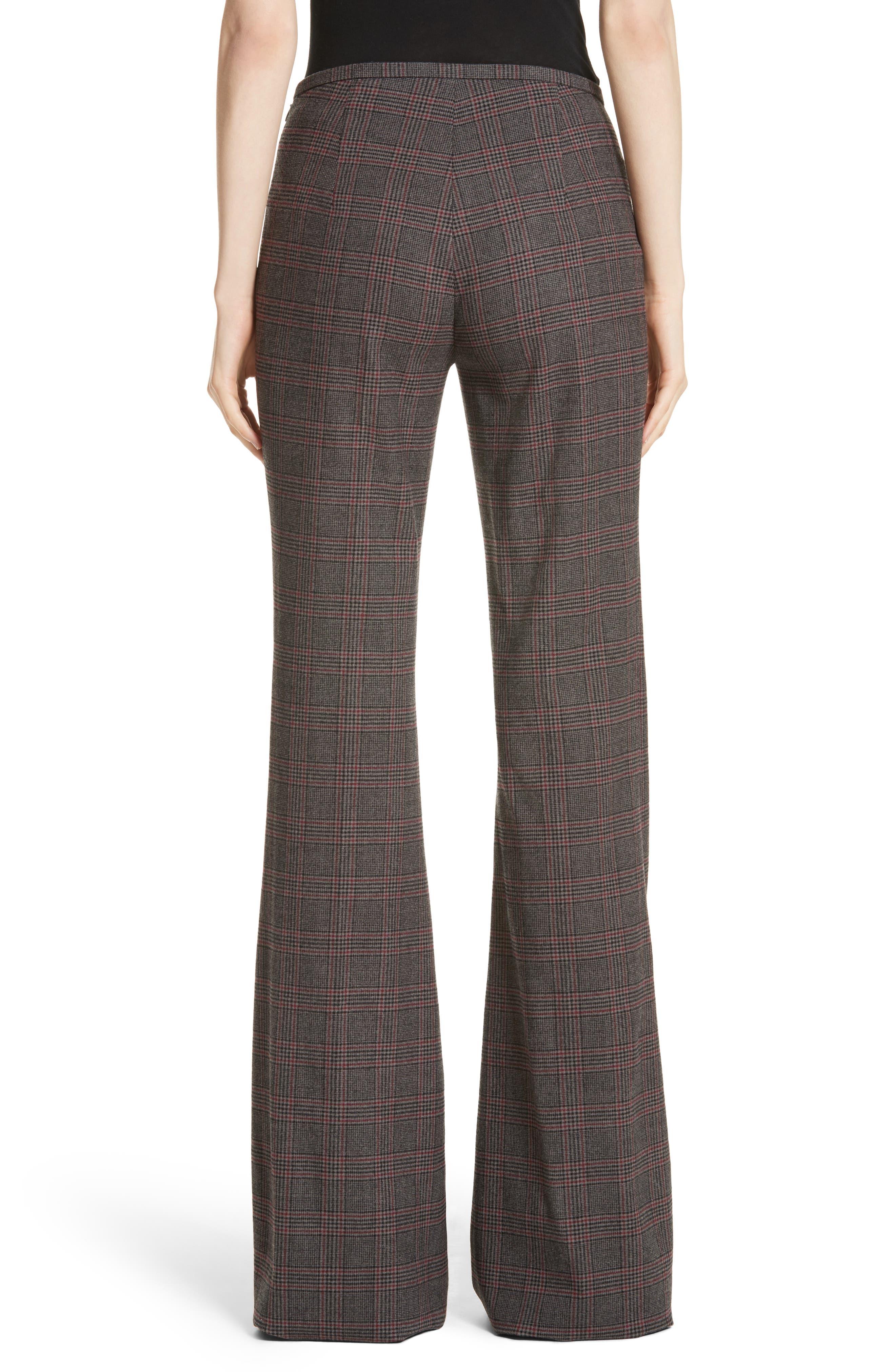 MICHAEL KORS,                             Plaid Stretch Wool Flannel Pants,                             Alternate thumbnail 2, color,                             034