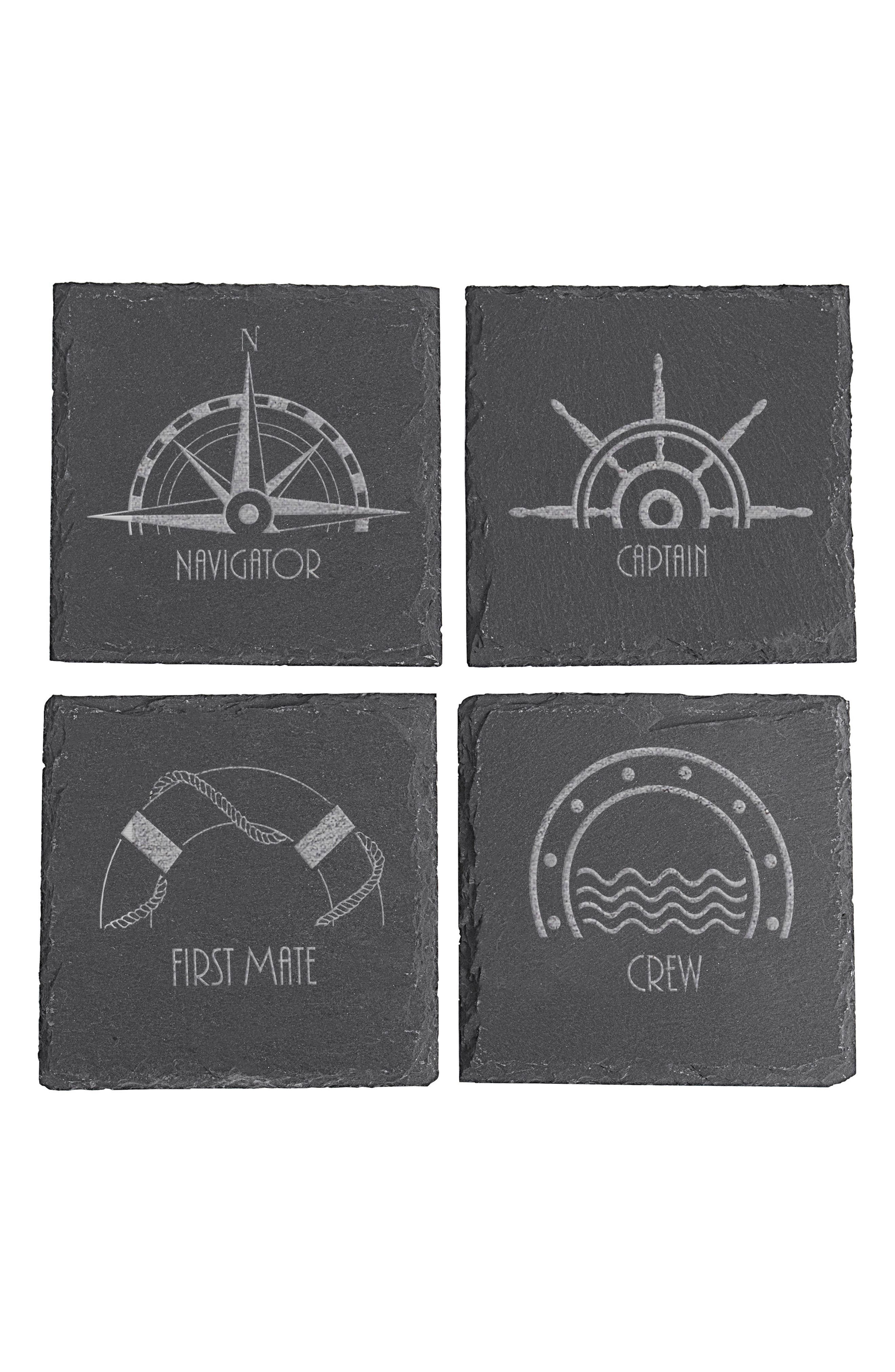 Set of 4 Slate Coasters,                         Main,                         color, 001