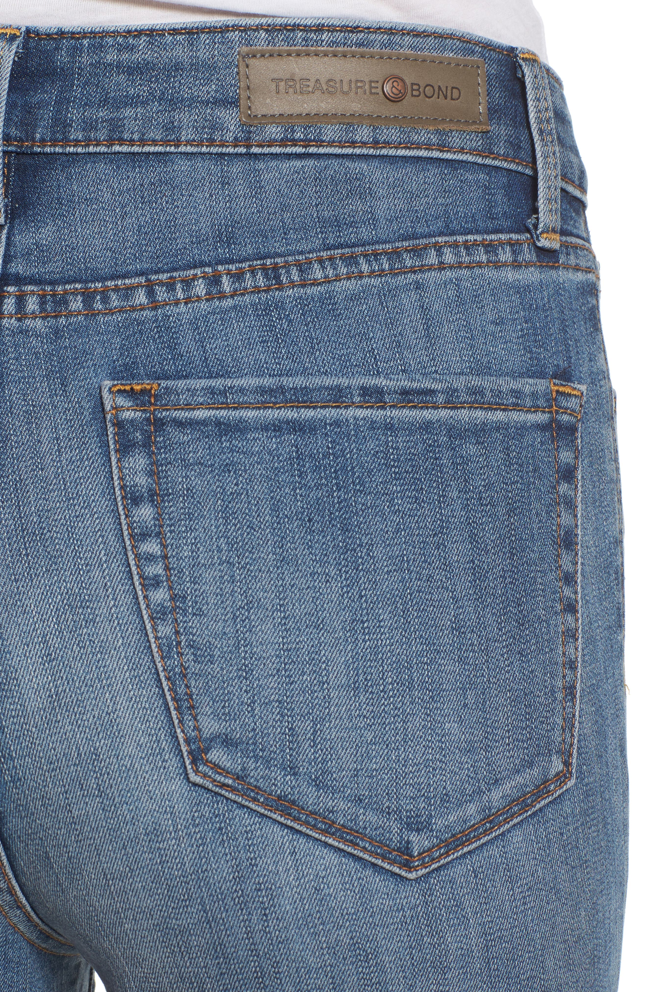 Charity High Waist Skinny Ankle Jeans,                             Alternate thumbnail 4, color,                             400