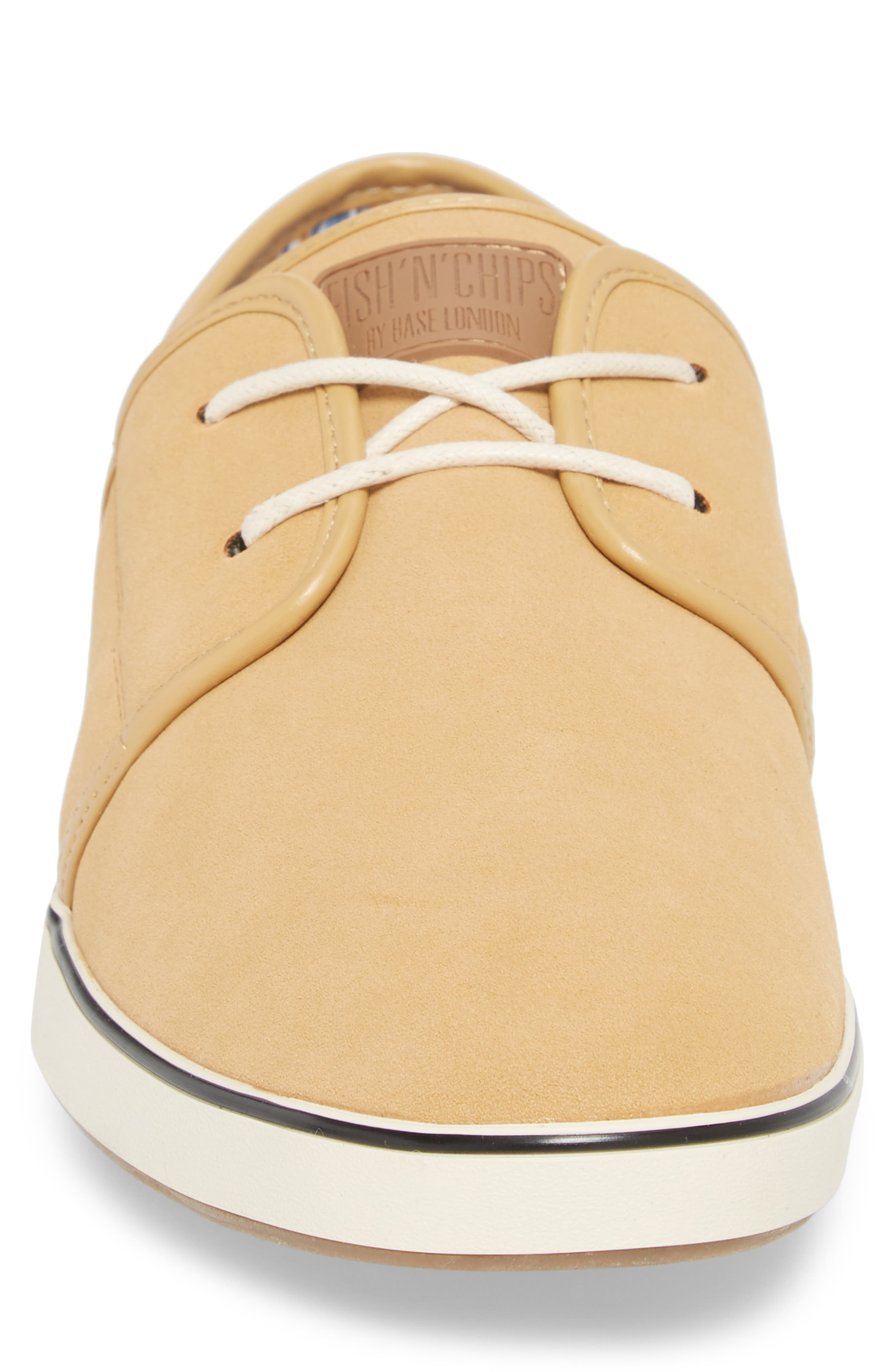 Fish 'N' Chips Surrey Low Top Sneaker,                             Alternate thumbnail 4, color,                             SOFT BROWN FAUX SUEDE