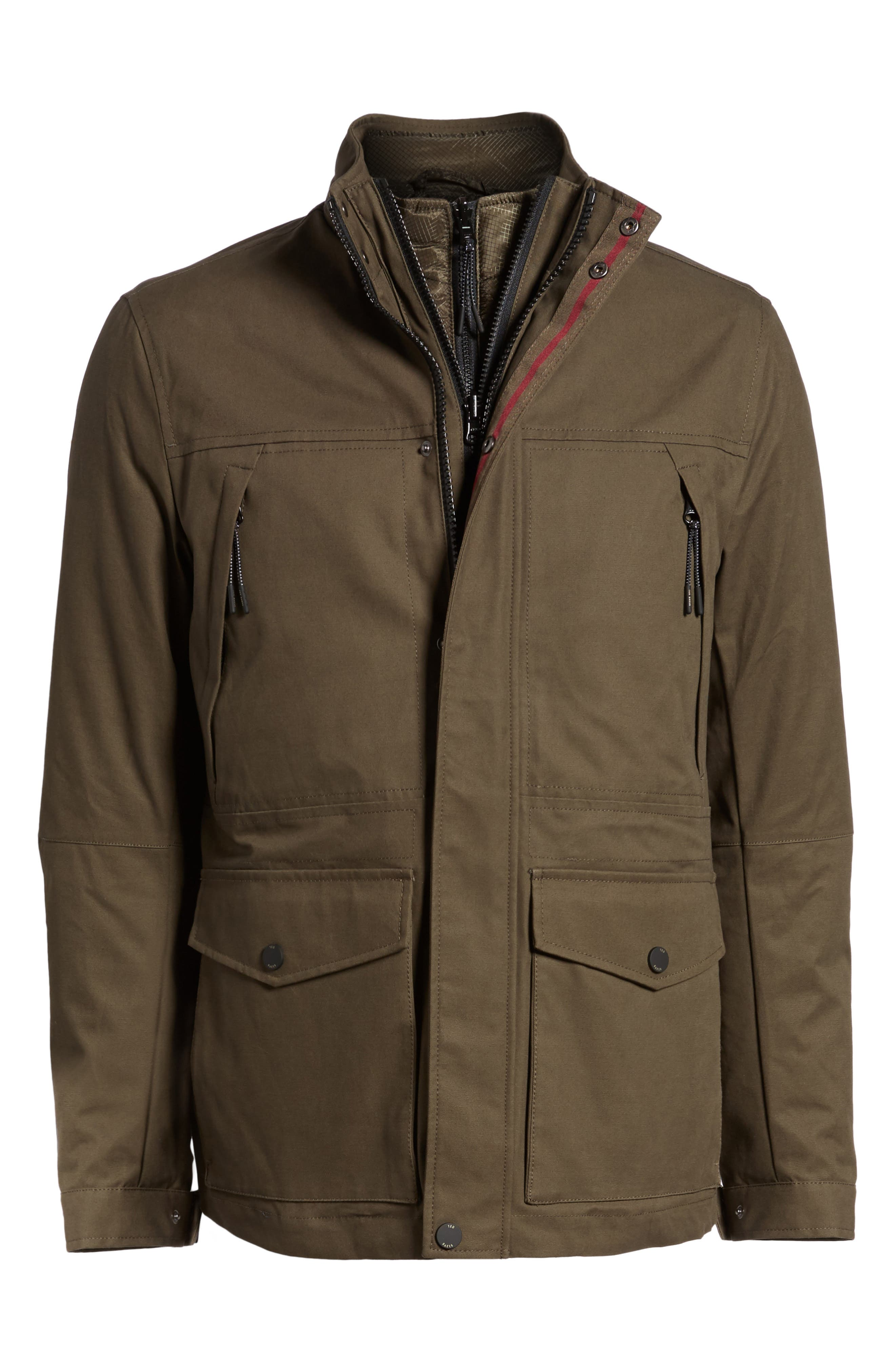 Nilson Trim Fit Quilted Field Jacket,                             Alternate thumbnail 5, color,                             312