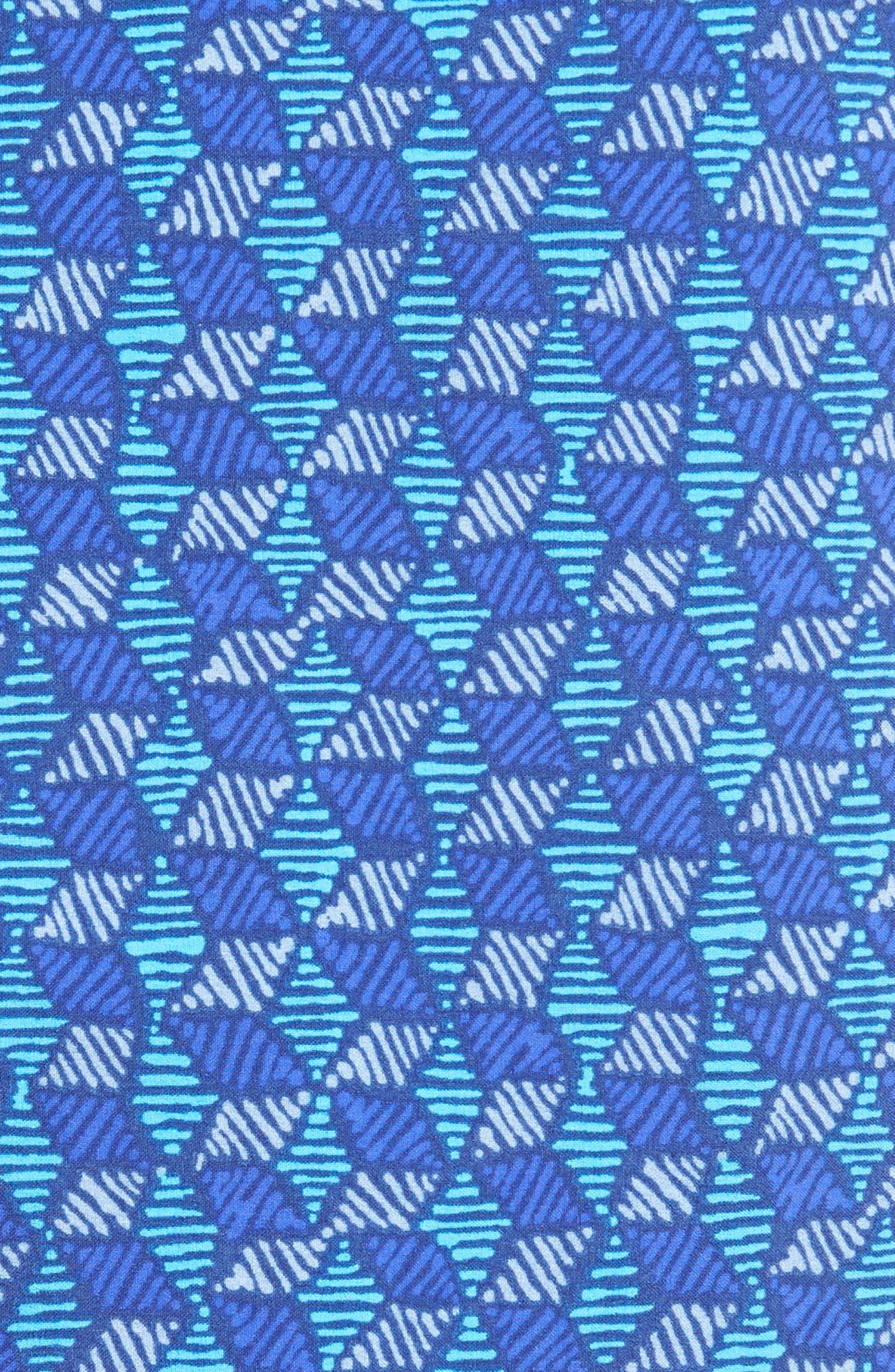 Wavefarer Swim Trunks,                             Alternate thumbnail 5, color,                             BATIK HEX MULTI/ RADAR BLUE
