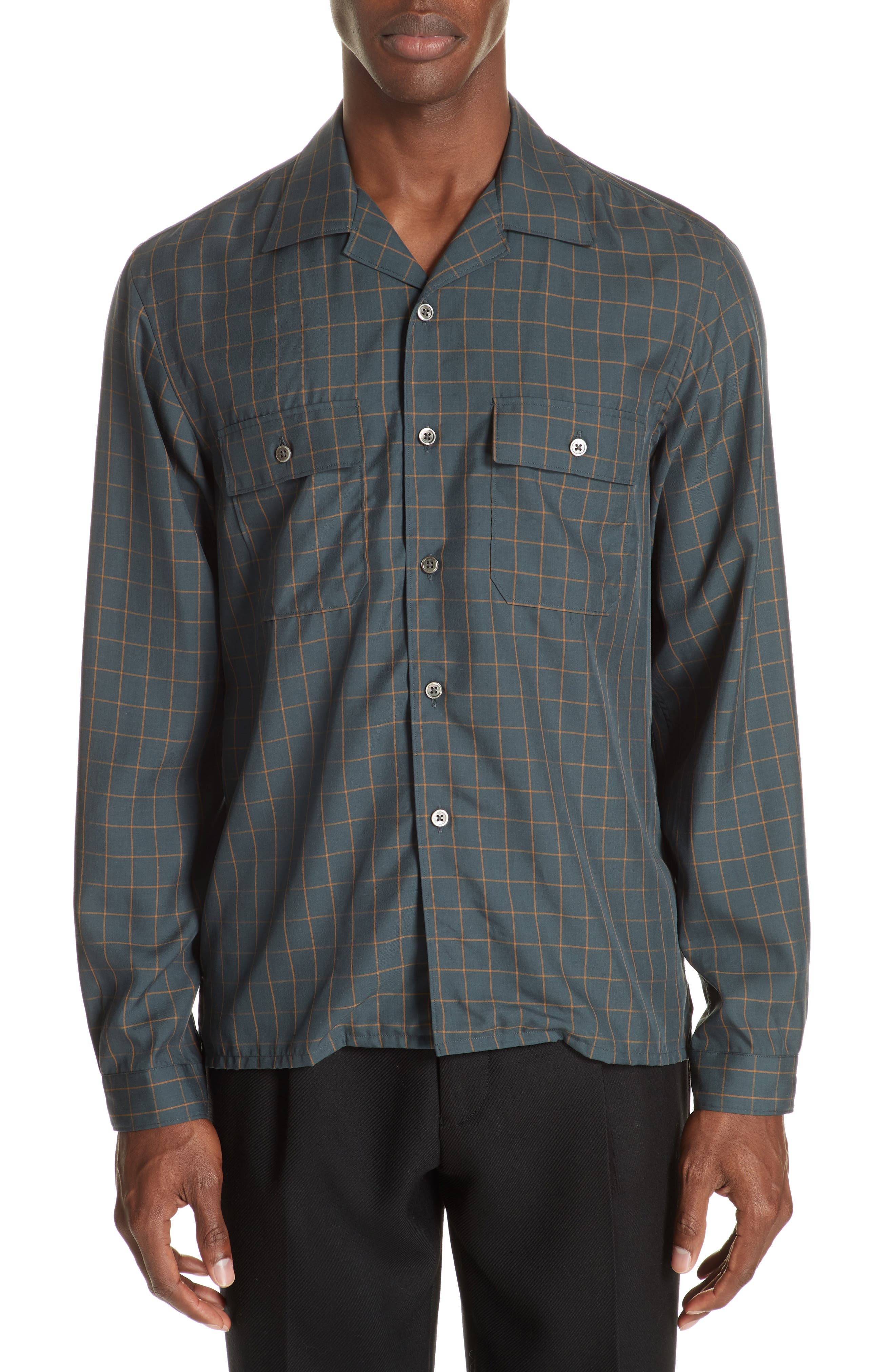 Slim Fit Woven Shirt,                         Main,                         color, GREEN