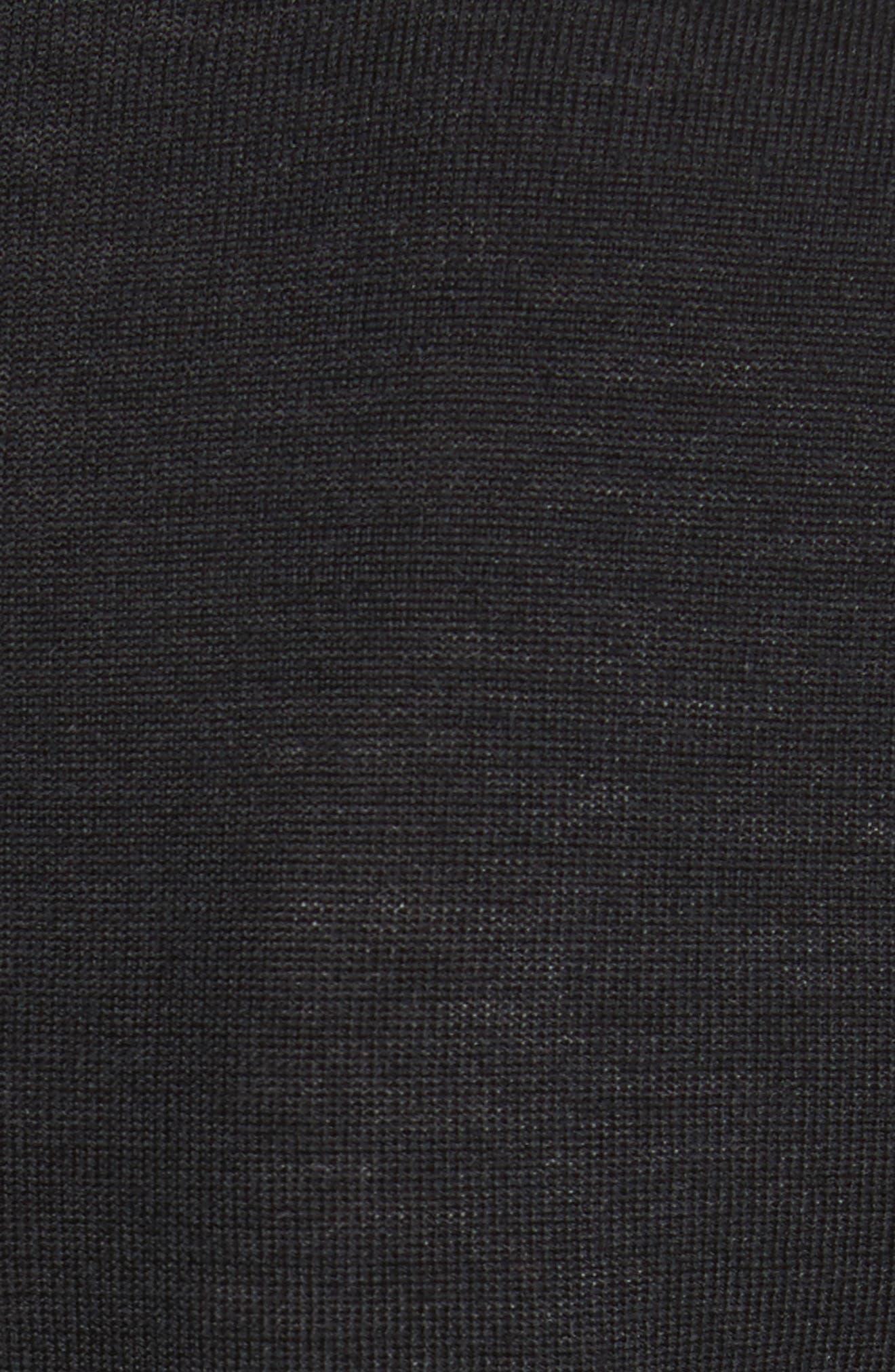 Madeline Merino Wool Cardigan,                             Alternate thumbnail 5, color,                             BLACK