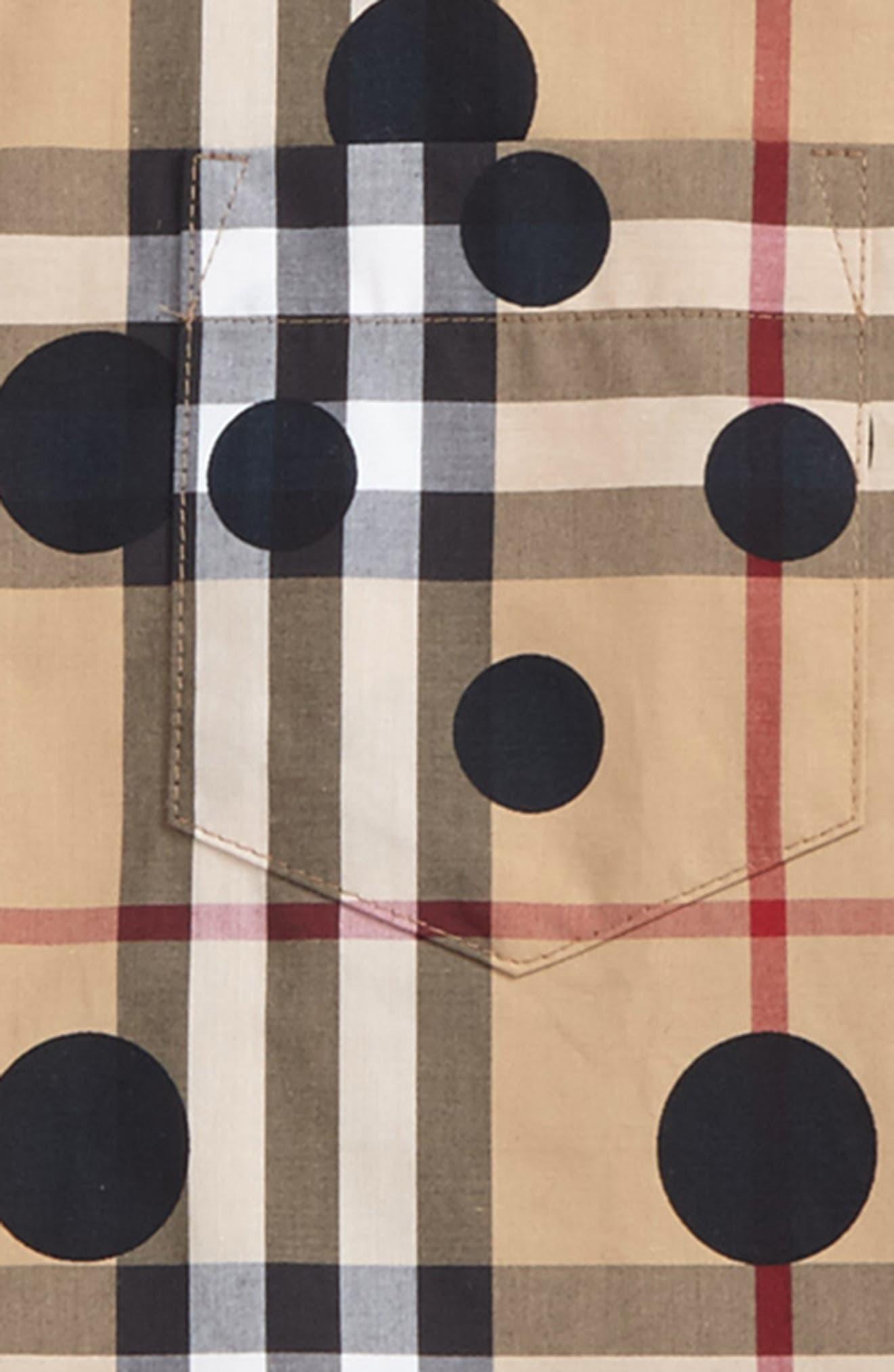 Mini Fred Polka Dot & Check Print Shirt,                             Alternate thumbnail 2, color,                             272