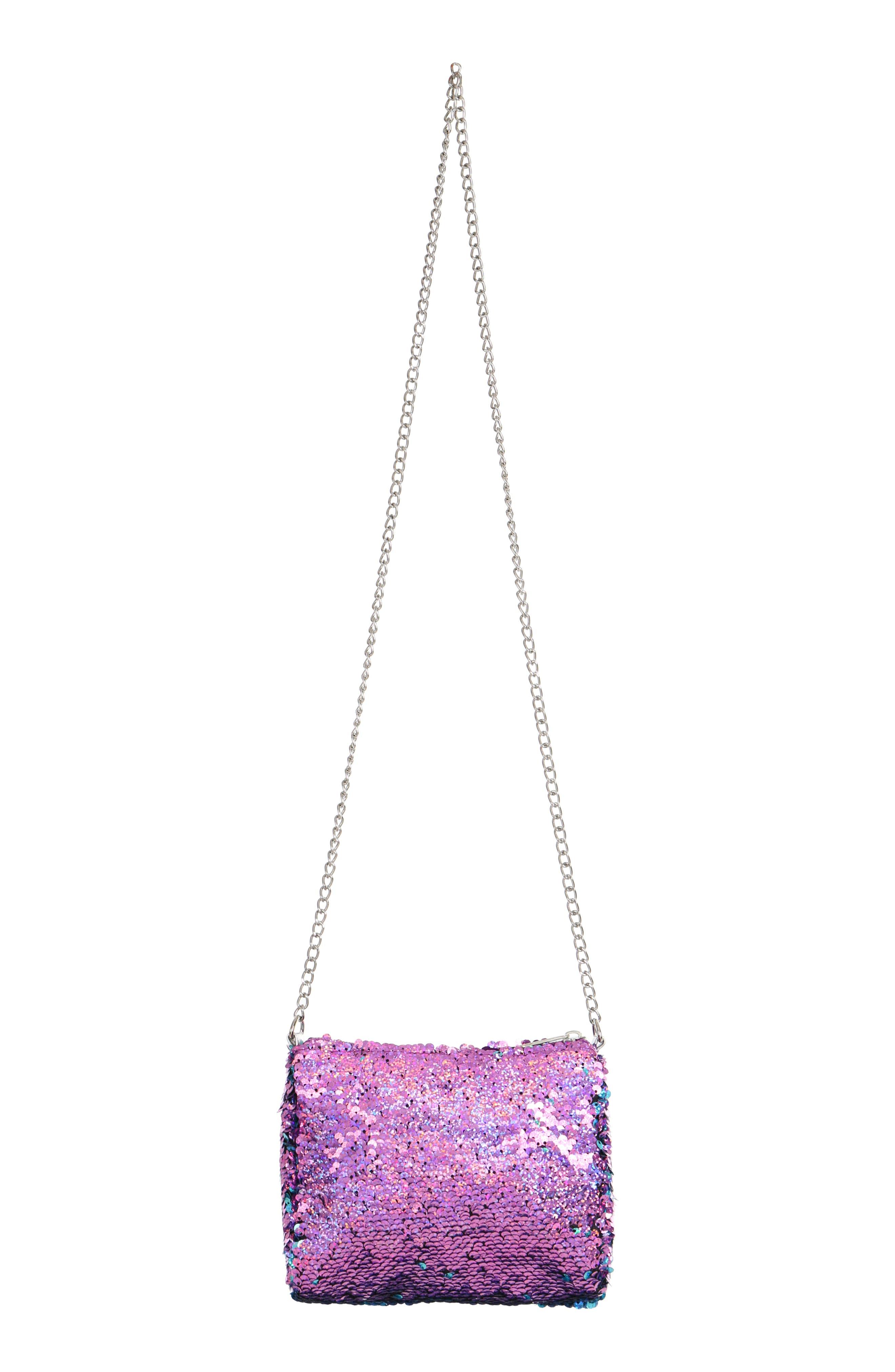 Flip Sequin Shoulder Bag,                             Alternate thumbnail 2, color,                             442
