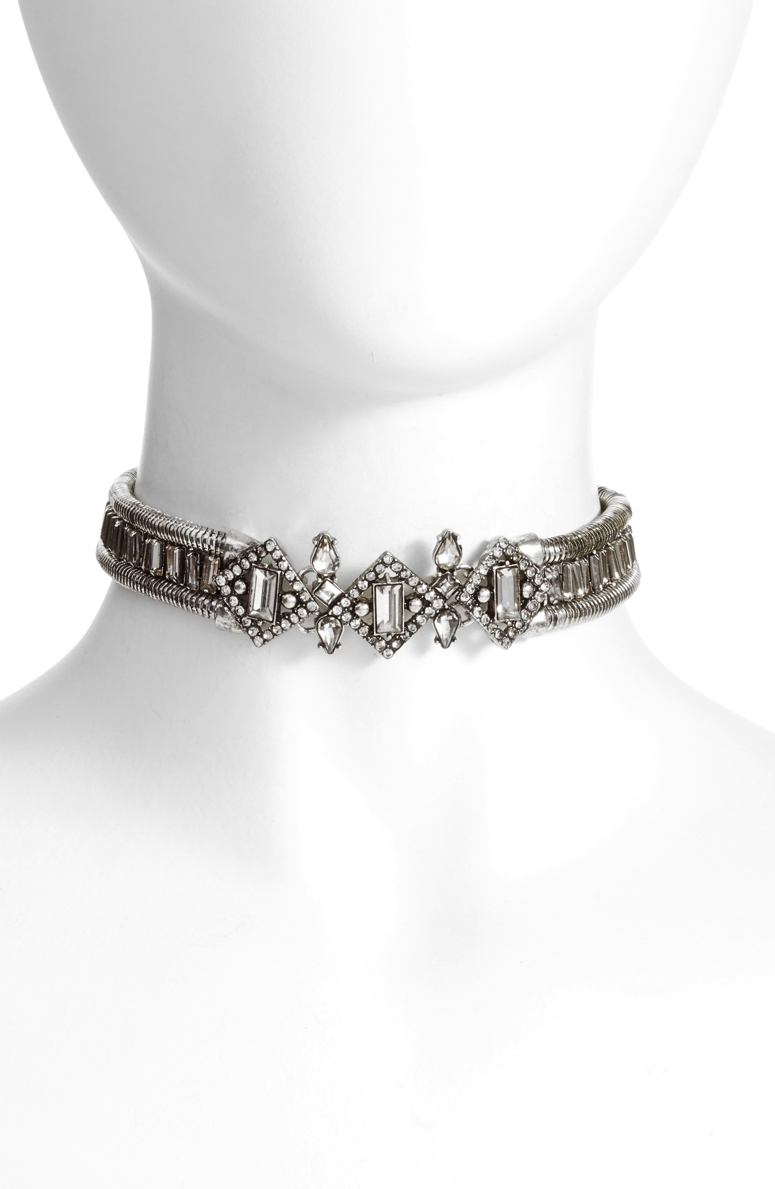 Crystal Choker Necklace,                             Main thumbnail 1, color,                             040