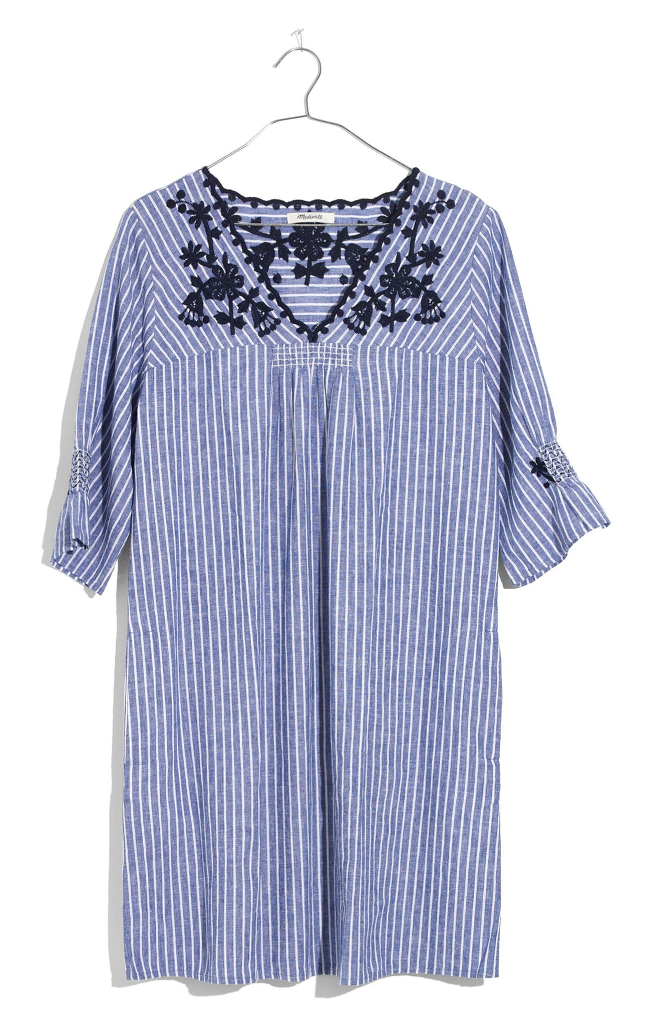 Breeze Embroidered Shift Dress,                             Alternate thumbnail 3, color,                             400