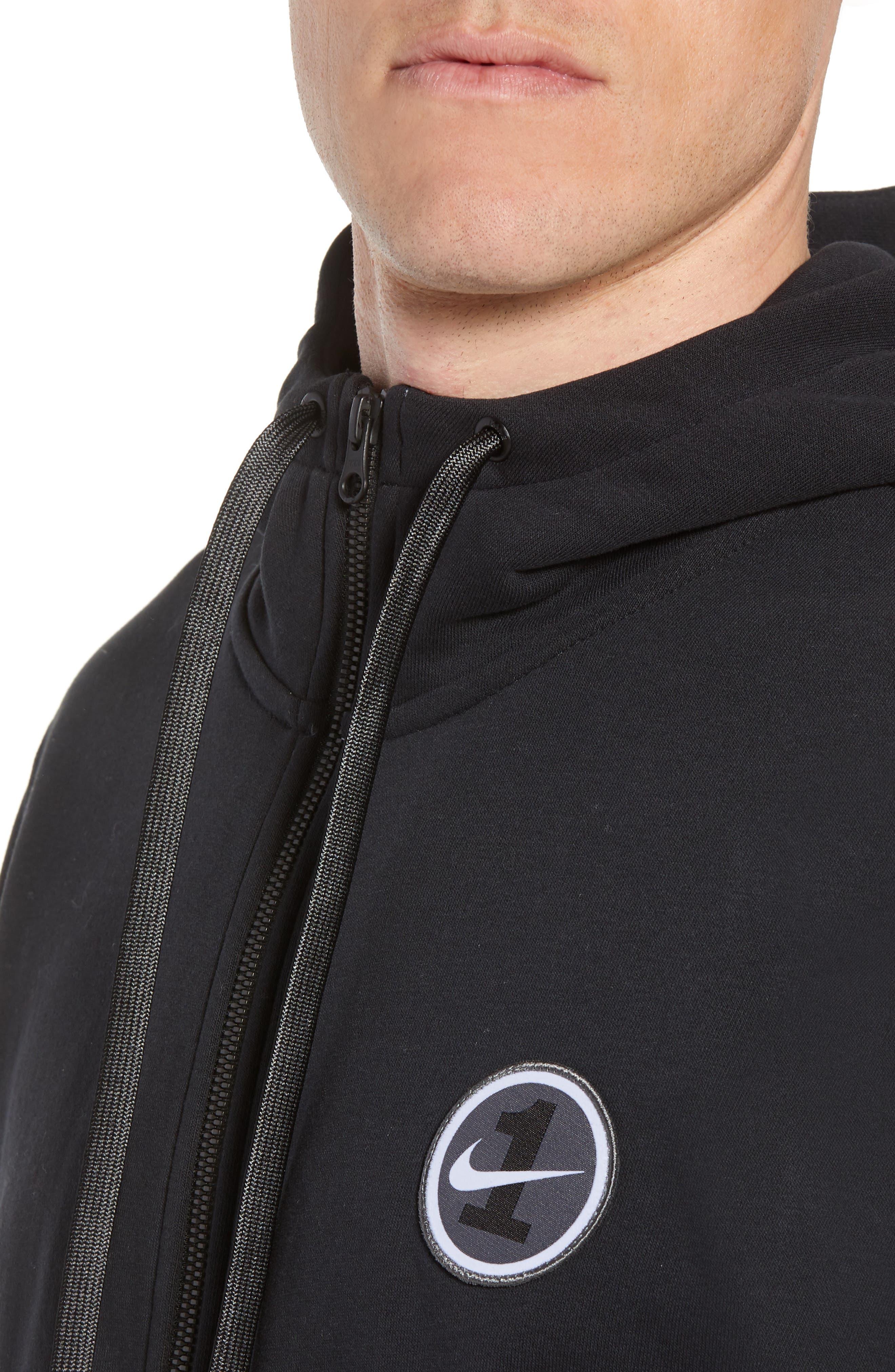 Sportswear Air Force 1 Full Zip Hoodie,                             Alternate thumbnail 4, color,                             010