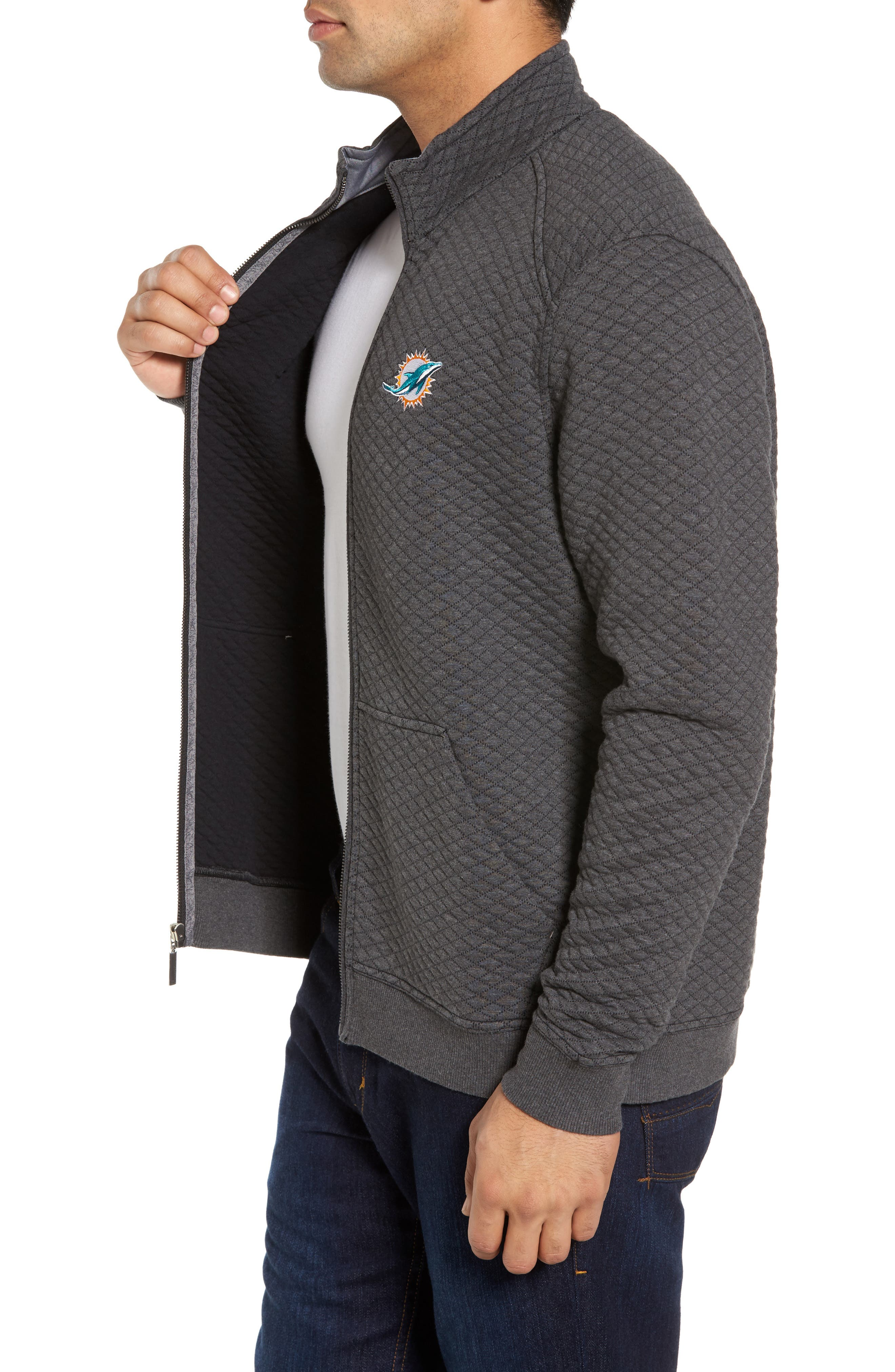 NFL Quiltessential Full Zip Sweatshirt,                             Alternate thumbnail 75, color,