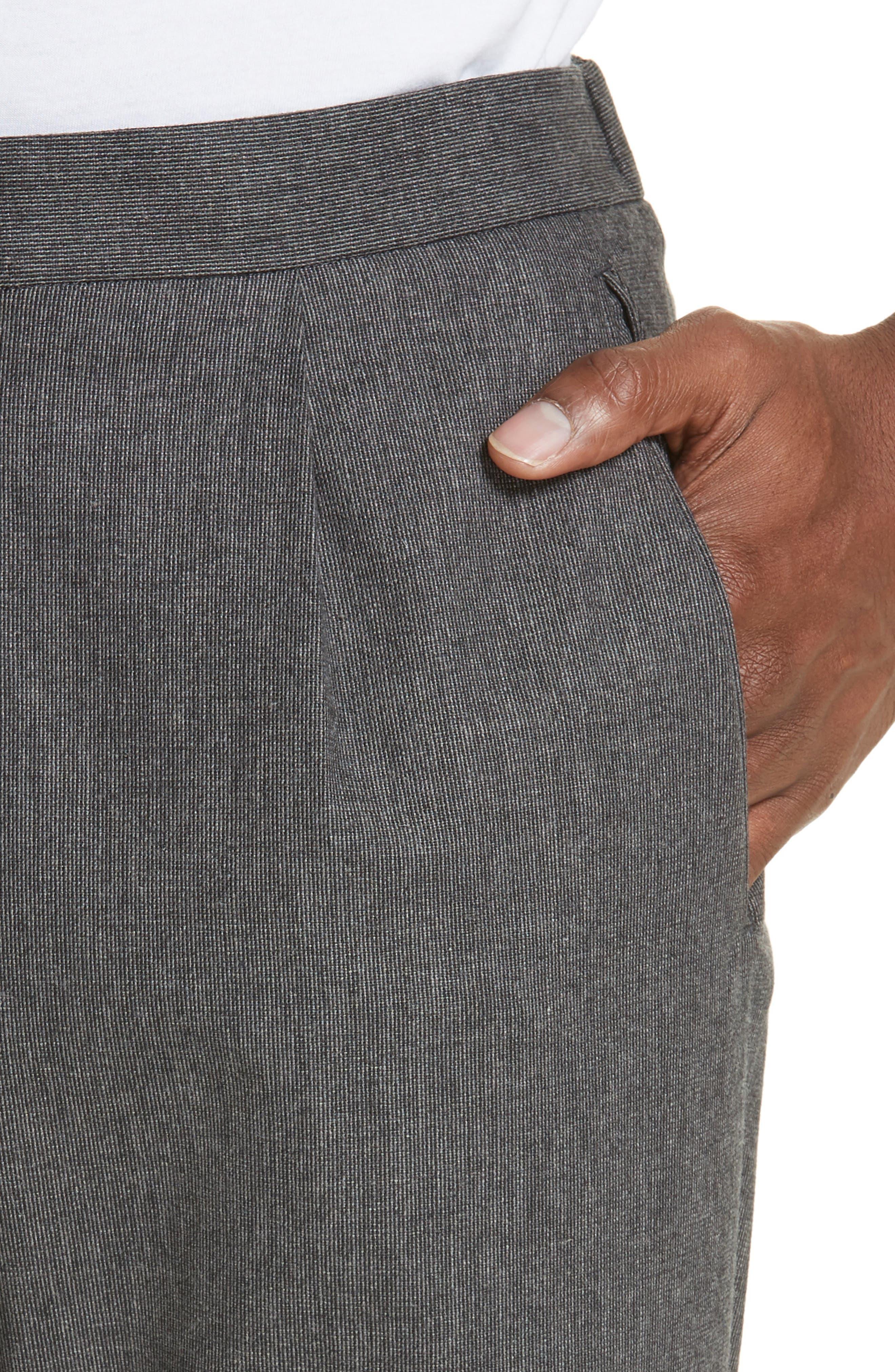 Trim Fit Sport Trousers,                             Alternate thumbnail 4, color,                             CHARCOAL