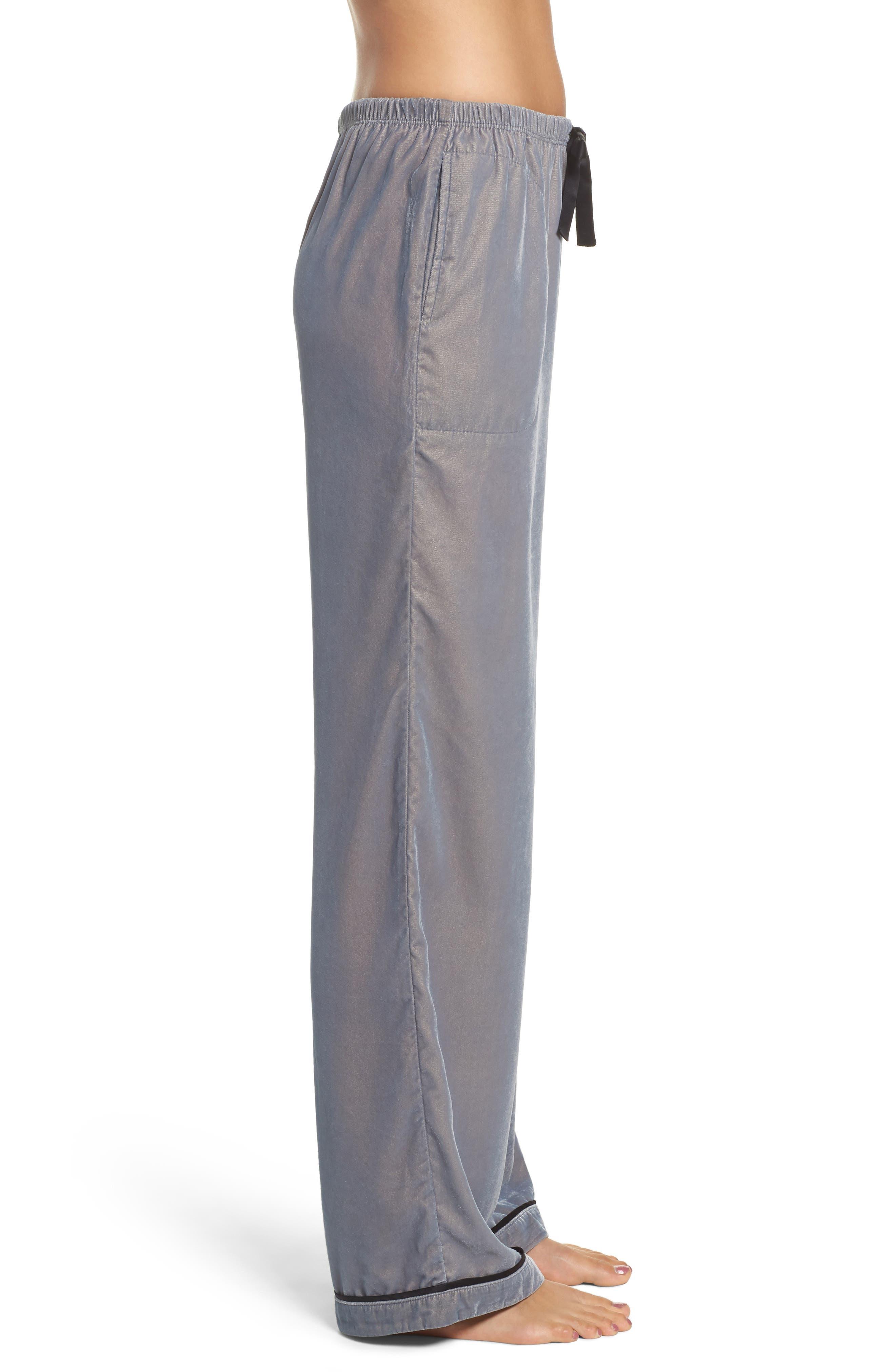 Velvet Pajama Pants,                             Alternate thumbnail 8, color,
