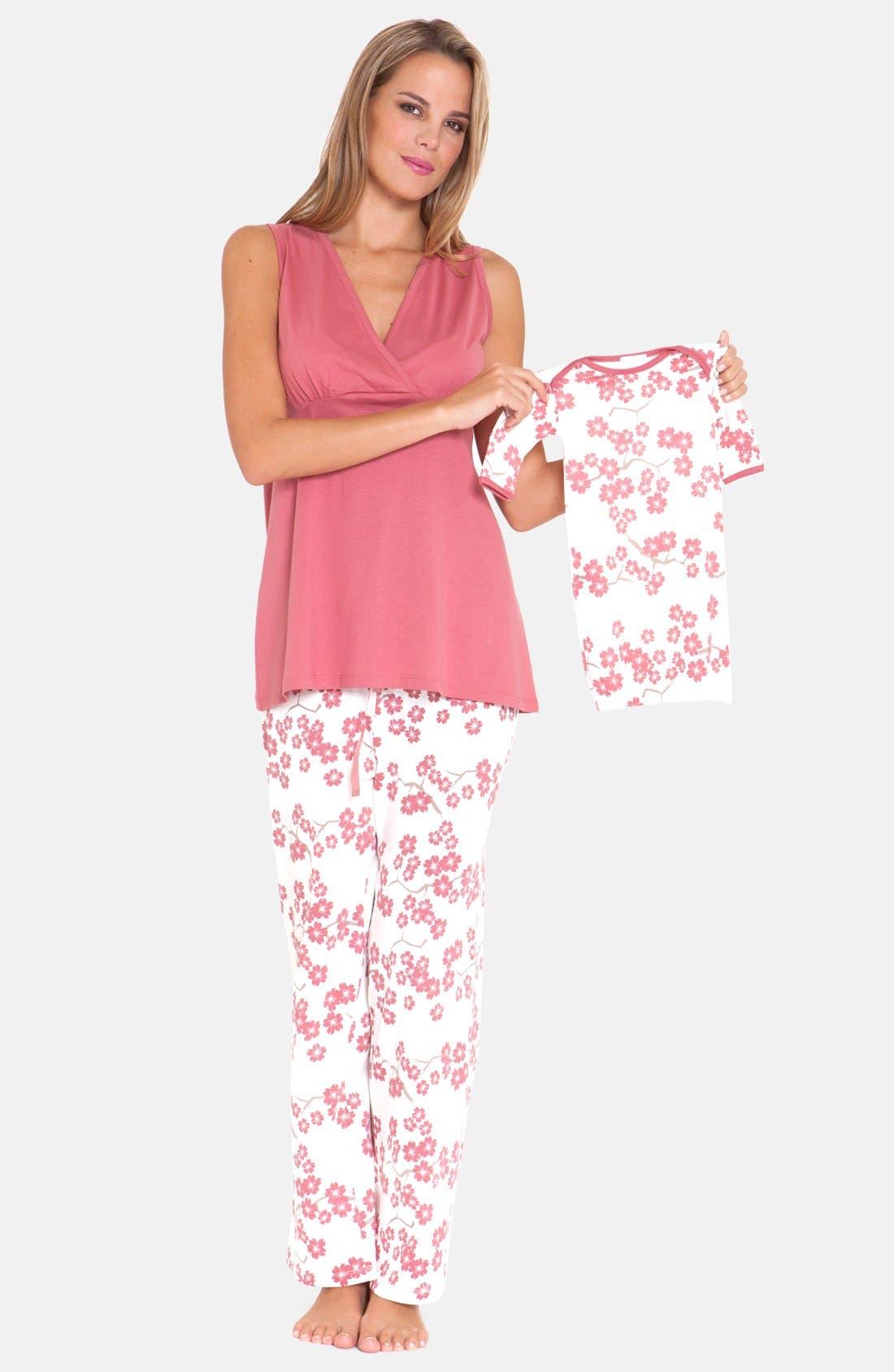 4-Piece Maternity Sleepwear Gift Set,                             Main thumbnail 1, color,