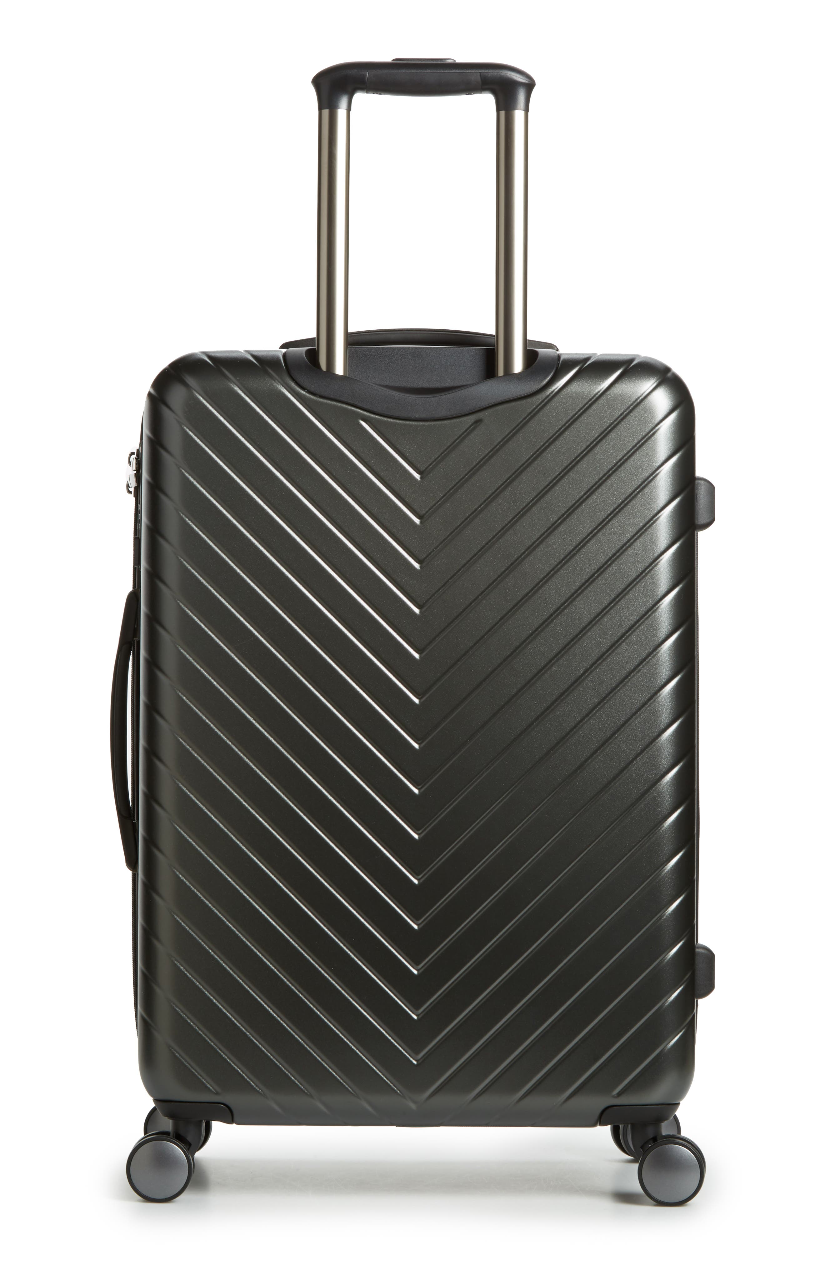 NORDSTROM,                             Chevron 25-Inch Spinner Suitcase,                             Alternate thumbnail 4, color,                             040
