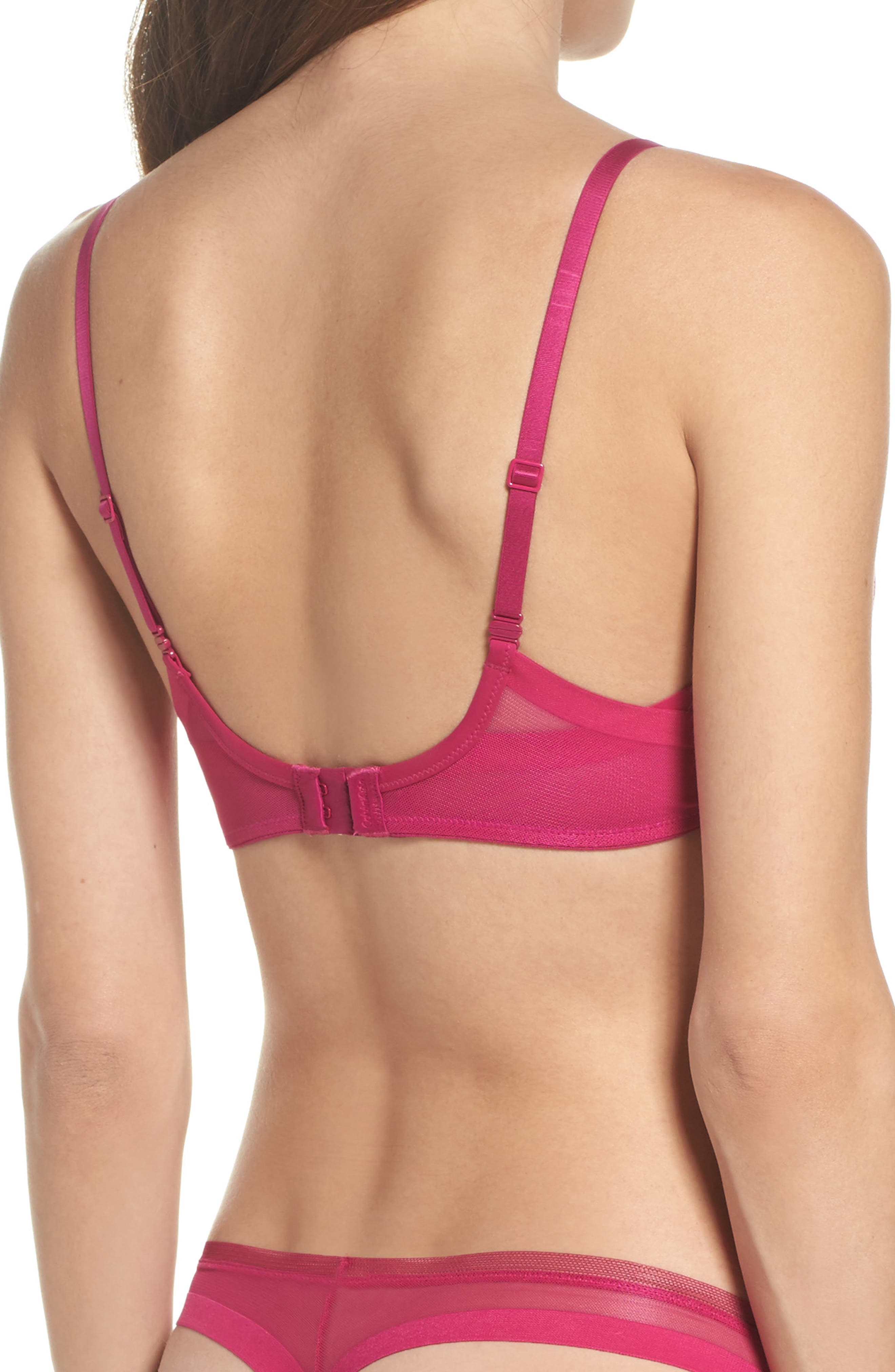 Sculpted Underwire Plunge Push-Up Bra,                             Alternate thumbnail 2, color,                             658