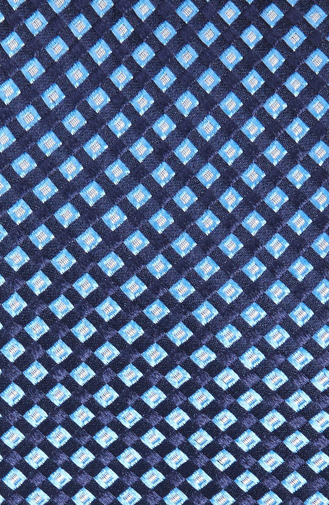Milton Micro Silk Tie,                             Alternate thumbnail 2, color,                             TRUE NAVY