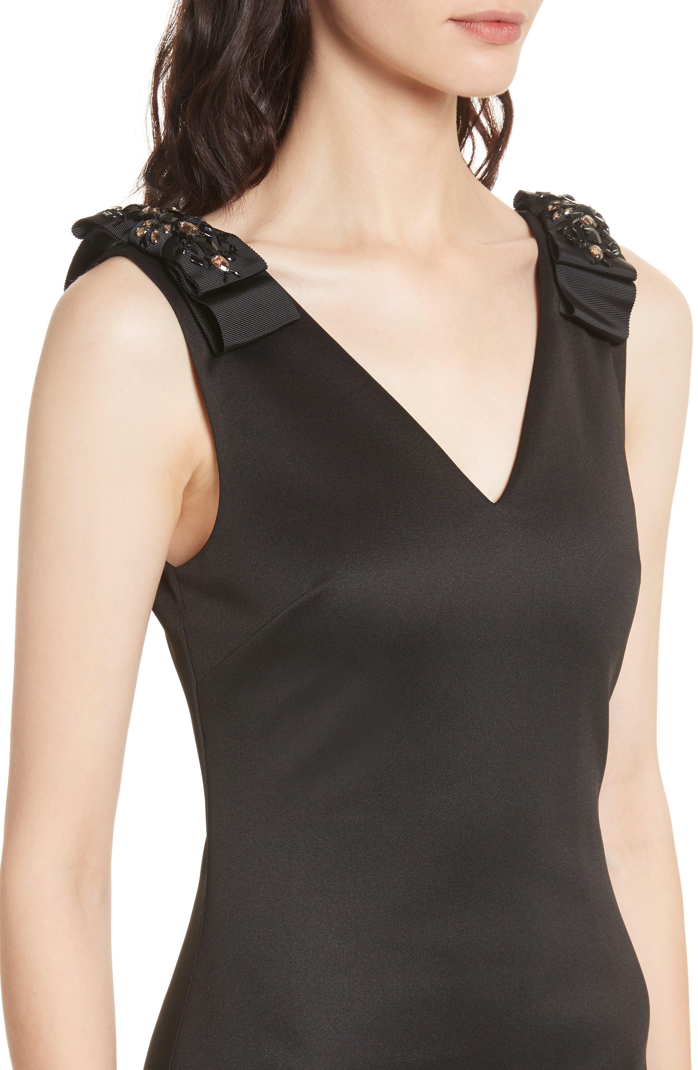 Belliah Bow Shoulder Body-Con Dress,                             Alternate thumbnail 4, color,