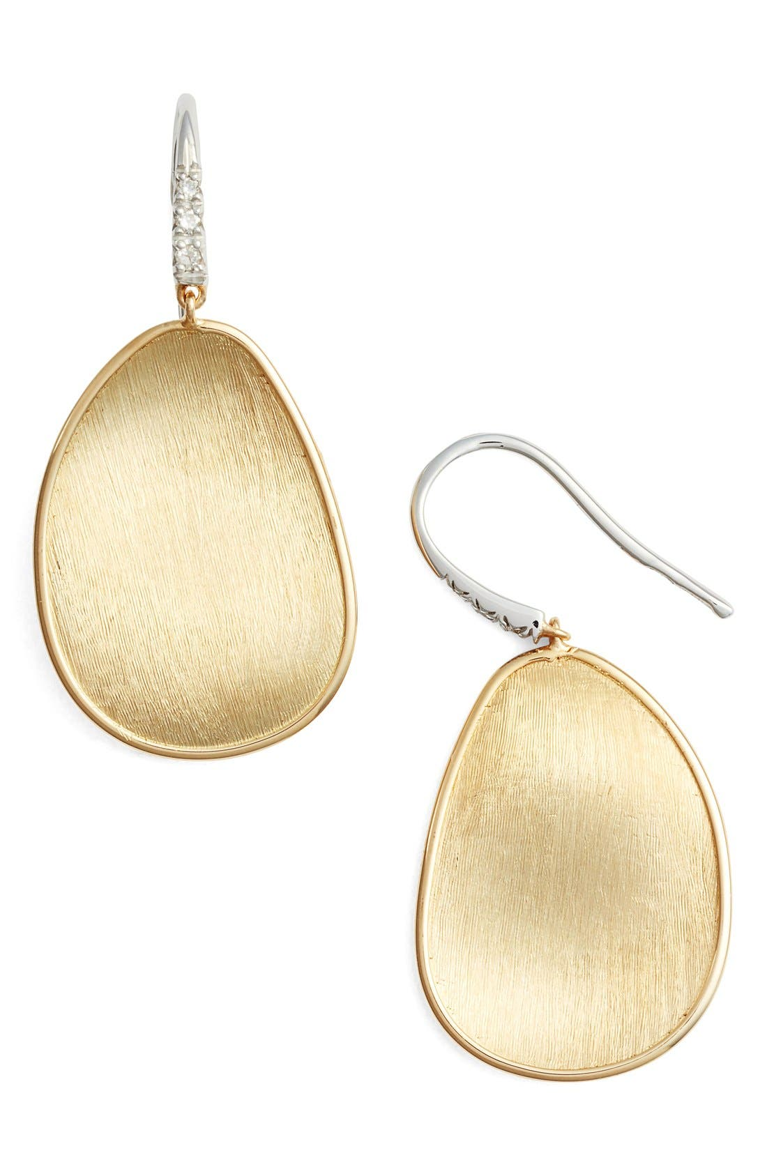 Lunaria Diamond & Gold Drop Earrings,                             Main thumbnail 1, color,                             YELLOW GOLD