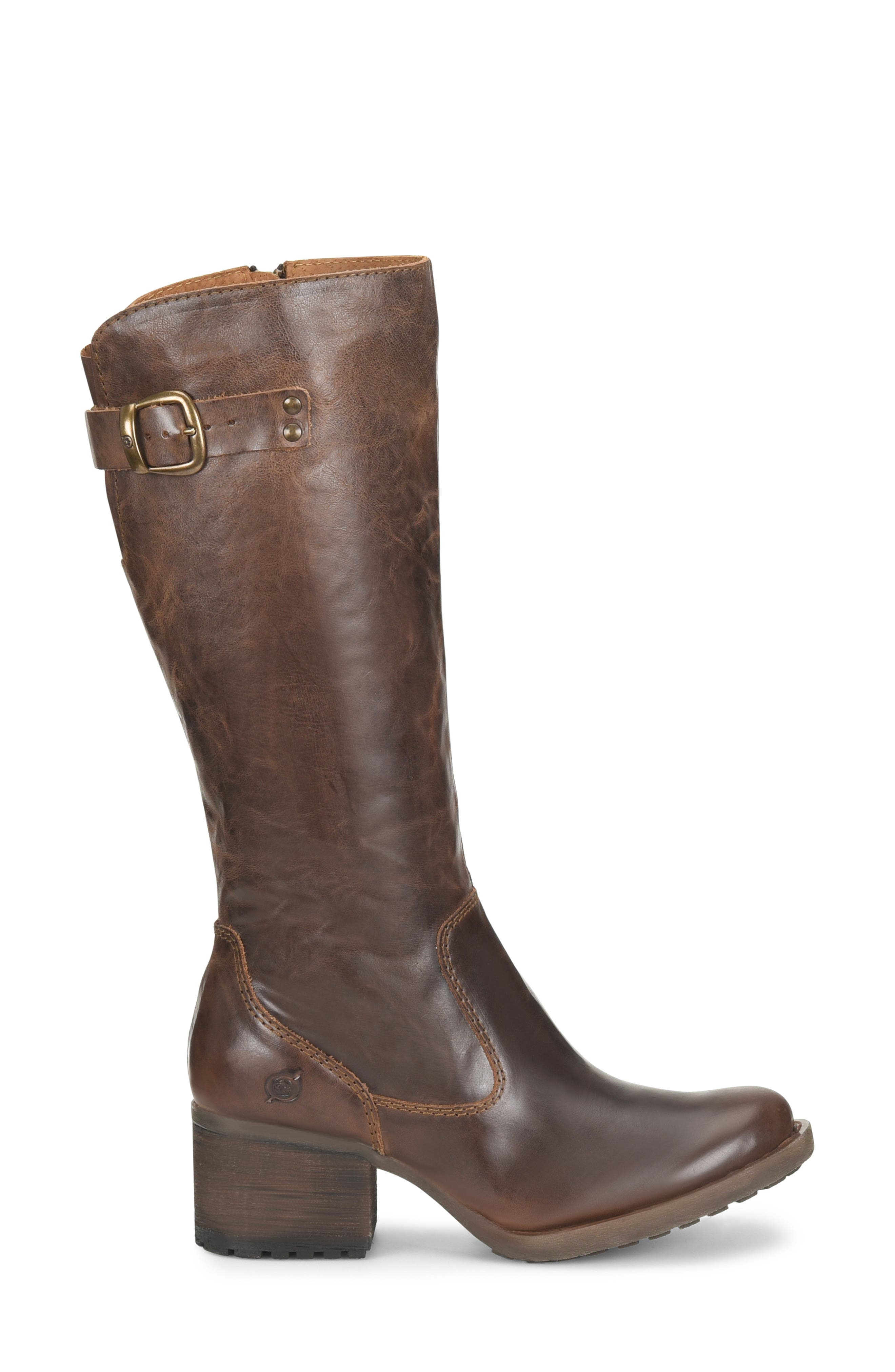 Knute Tall Boot,                             Alternate thumbnail 3, color,                             LIGHT BROWN LEATHER