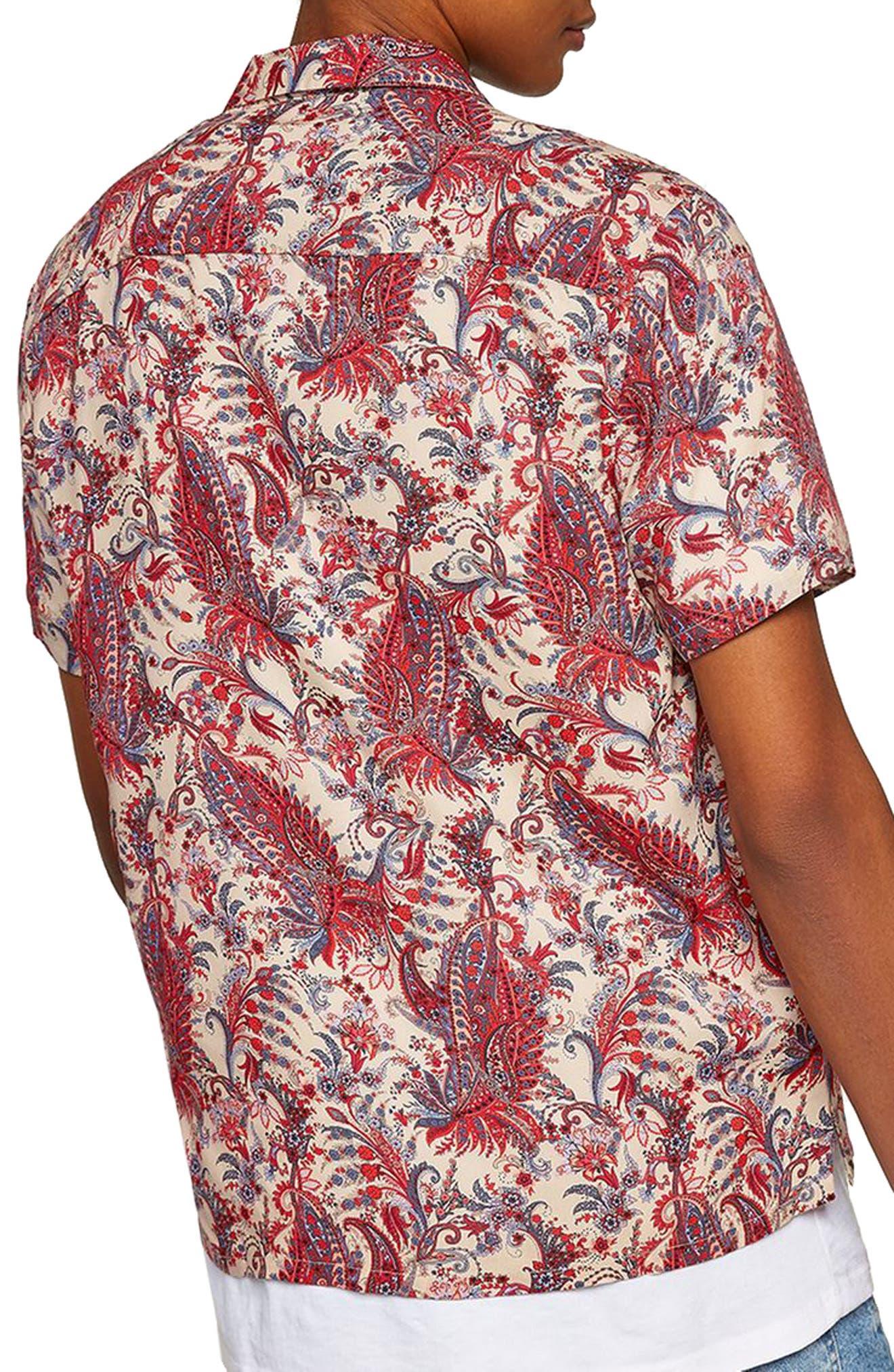 Paisley Camp Shirt,                             Alternate thumbnail 2, color,                             PINK MULTI